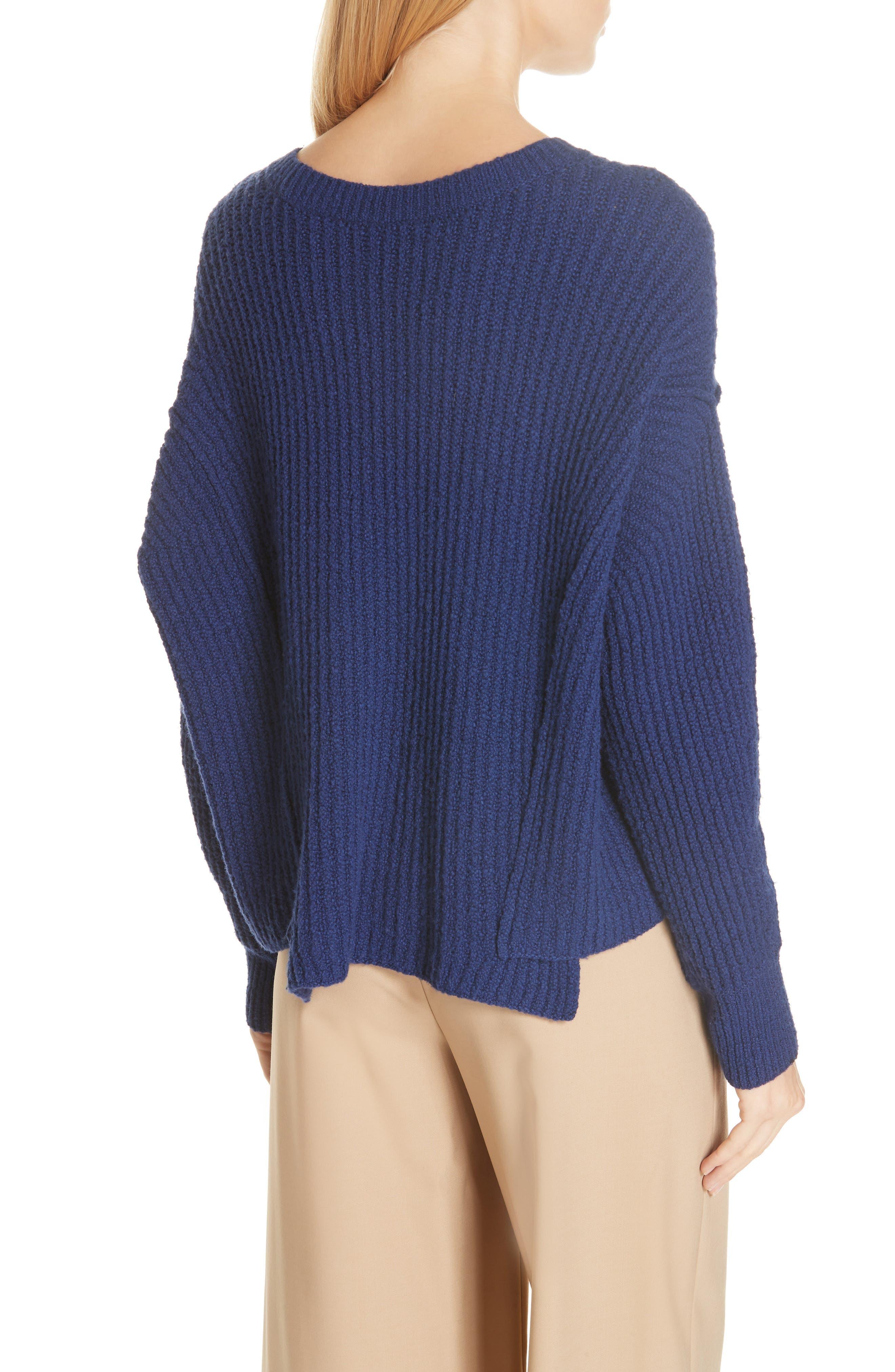 Overlap Panel Sweater,                             Alternate thumbnail 2, color,                             INK