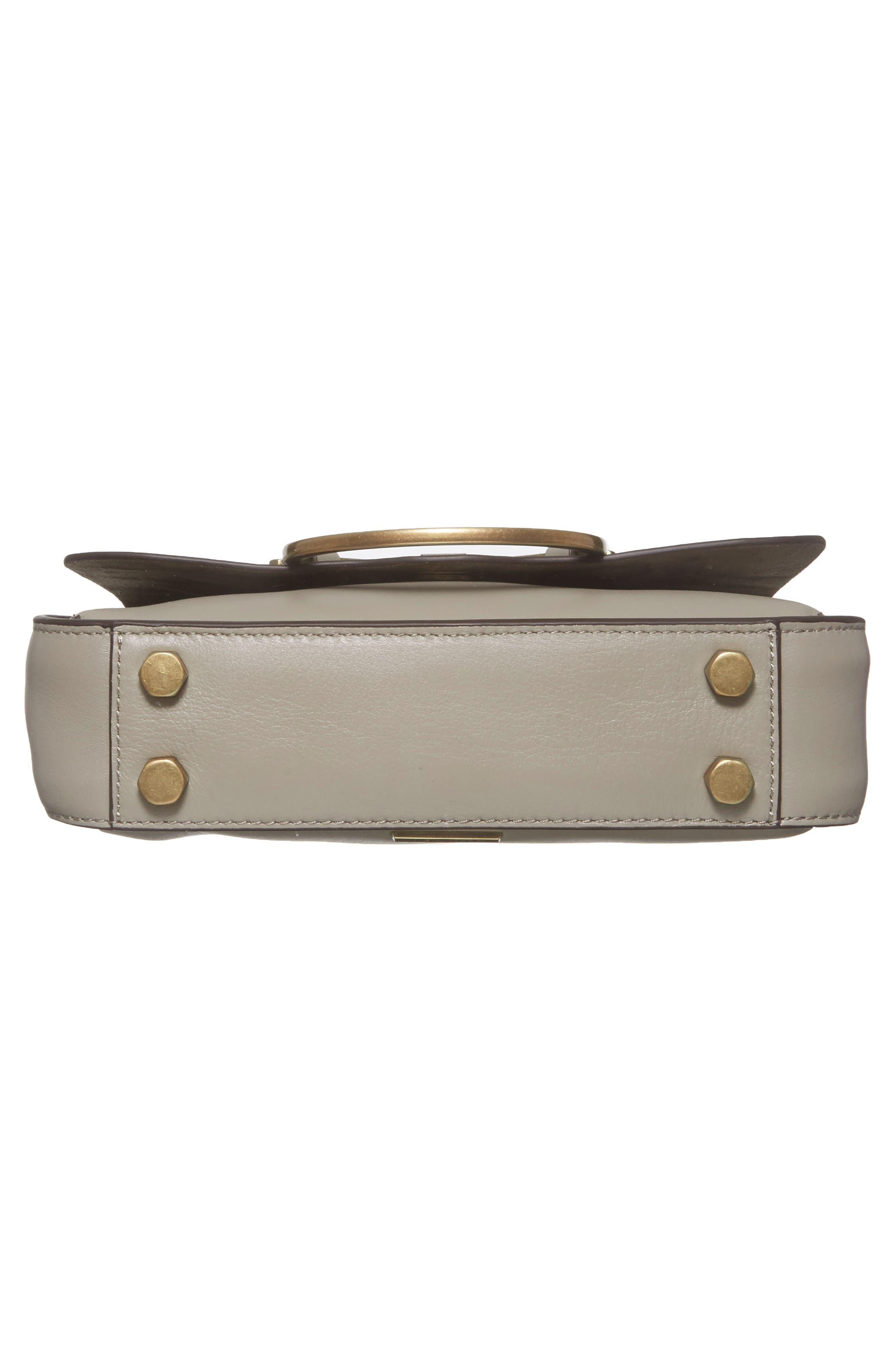 Ring Leather Shoulder Bag,                             Alternate thumbnail 12, color,