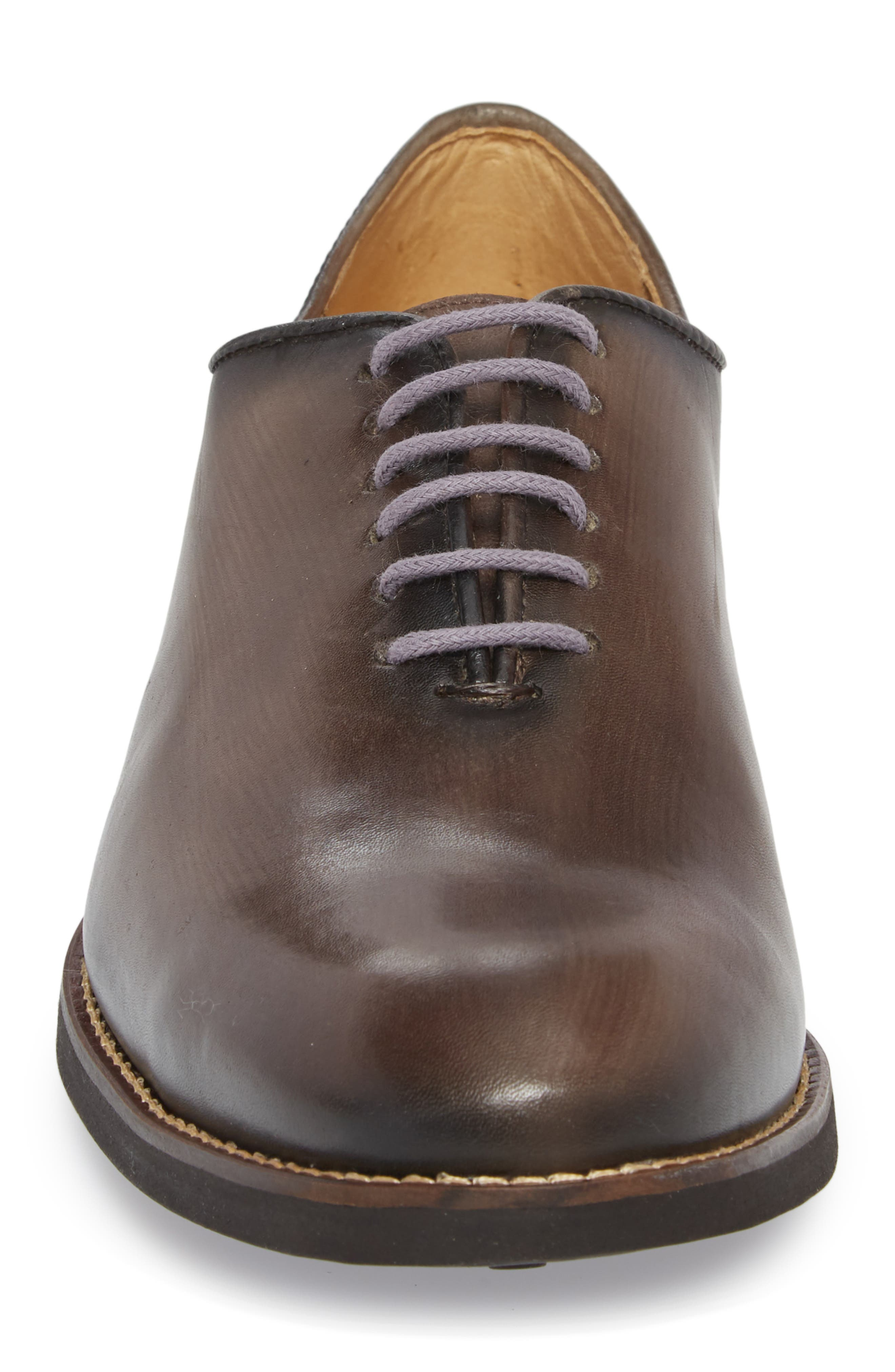 Sao Paulo II Whole Cut Shoe,                             Alternate thumbnail 4, color,                             TOUCH GREY BRUSHED LEATHER