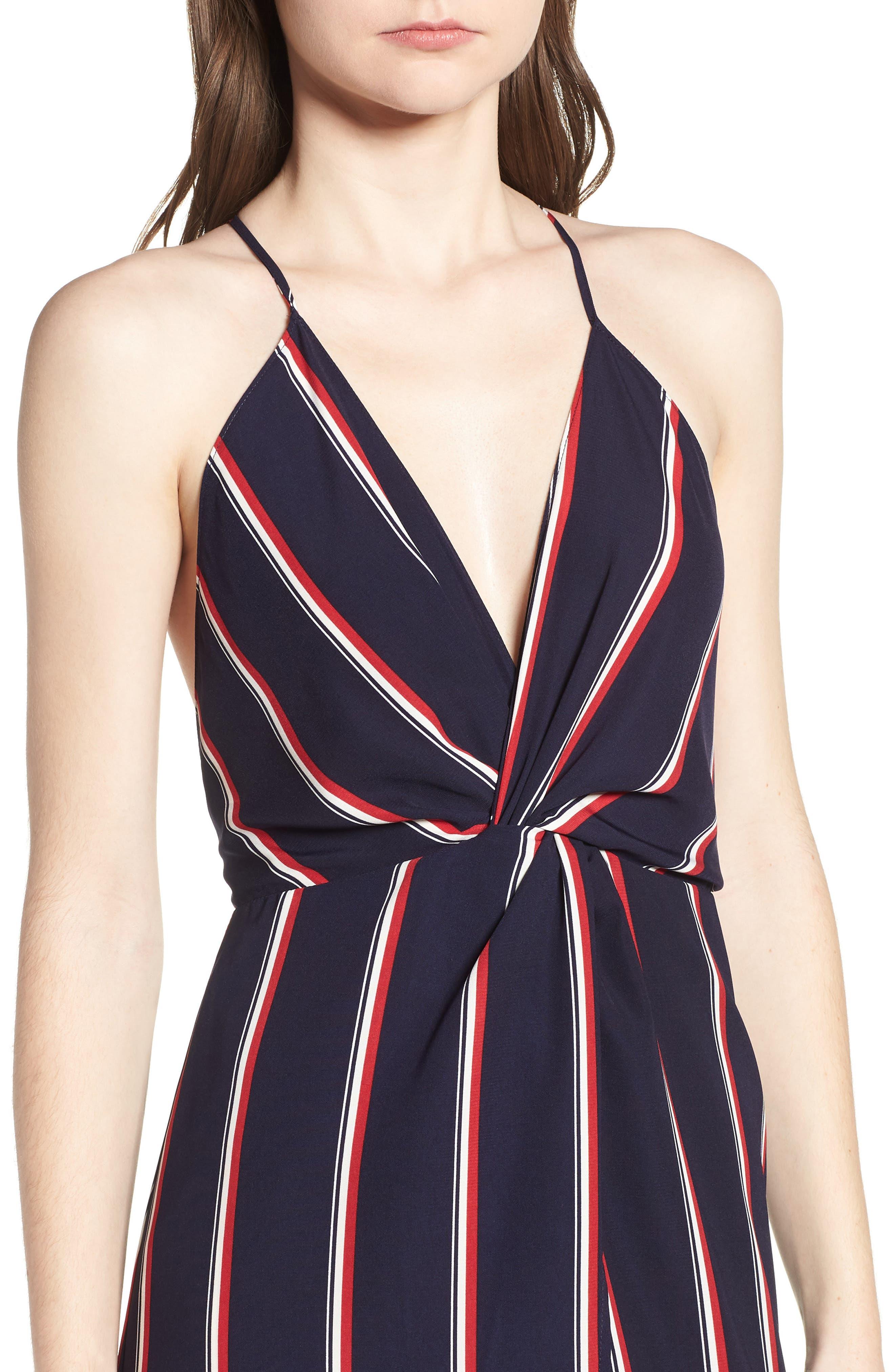 Print Maxi Dress,                             Alternate thumbnail 4, color,                             400