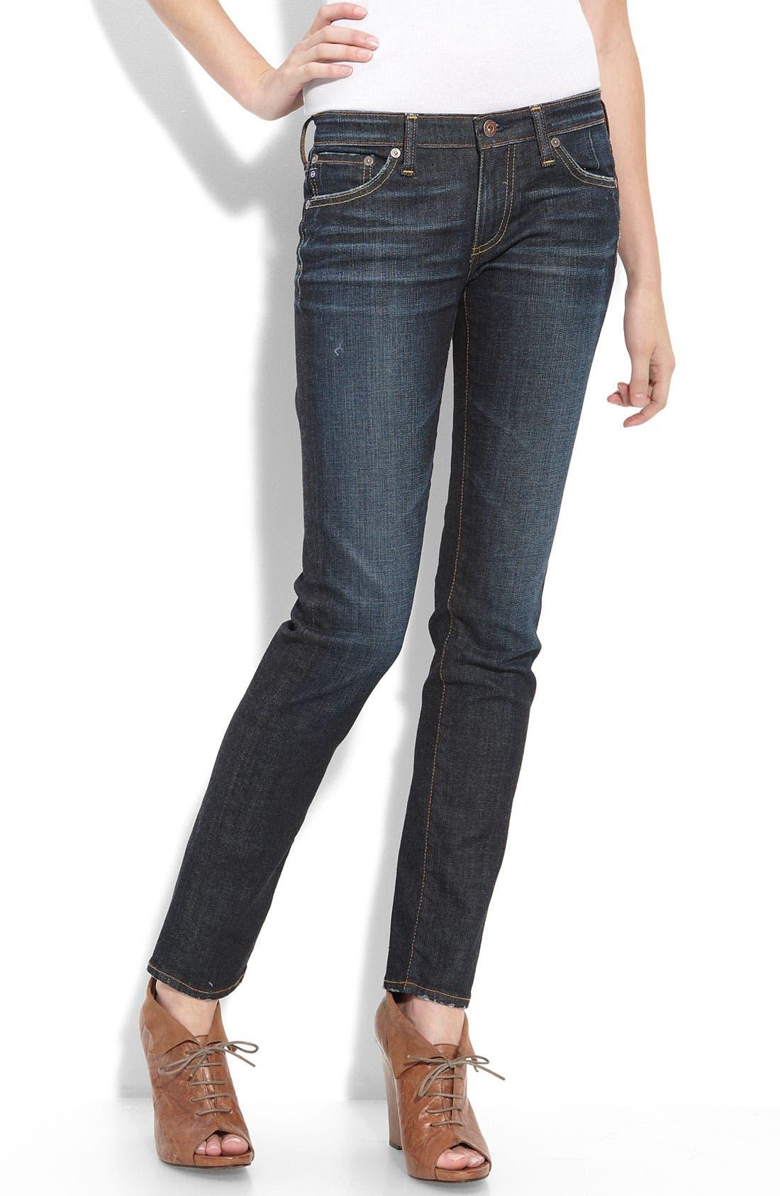 'The Stilt' Cigarette Leg Jeans,                             Main thumbnail 3, color,