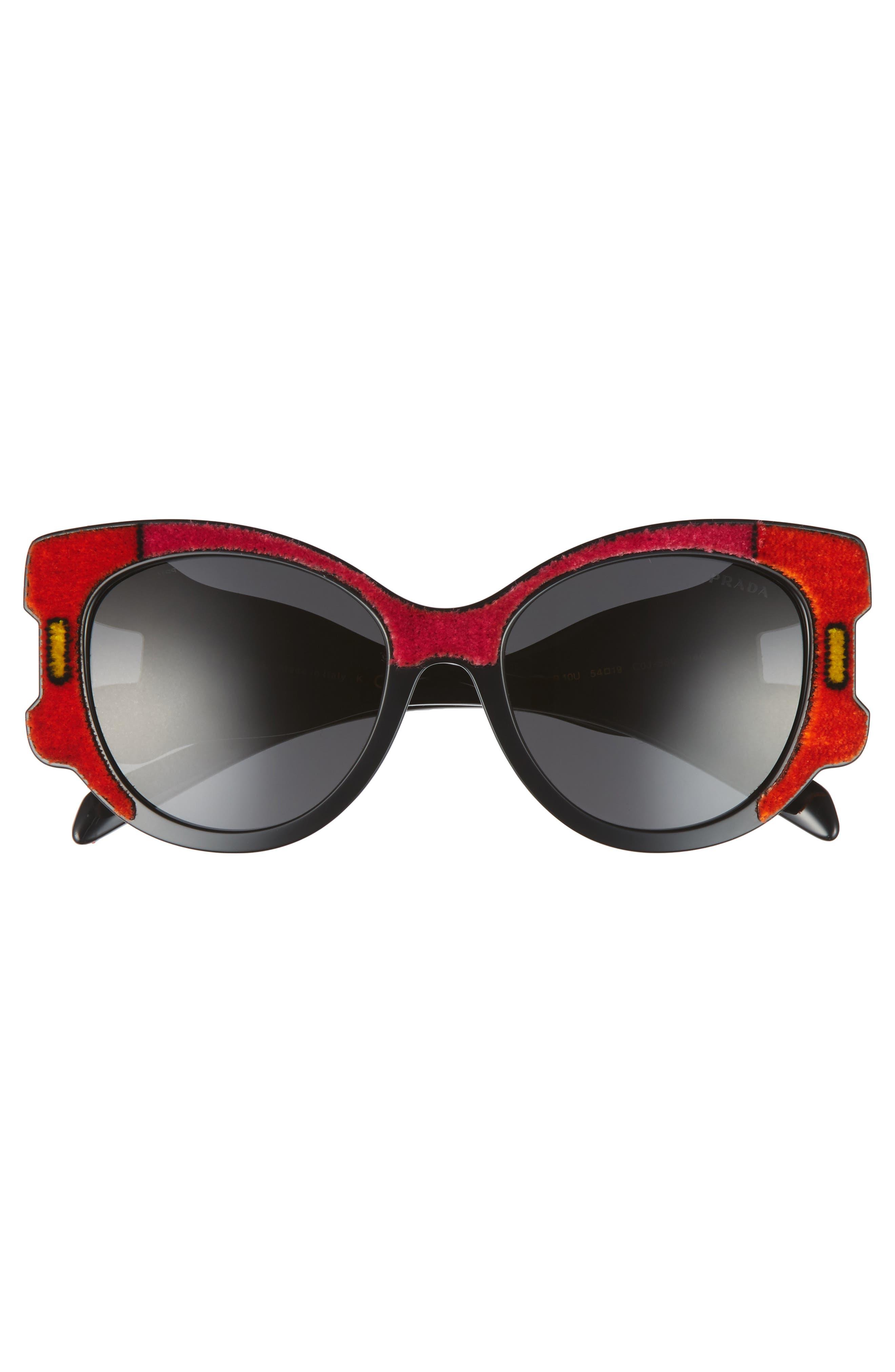 54mm Colorblock Round Sunglasses,                             Alternate thumbnail 4, color,                             010