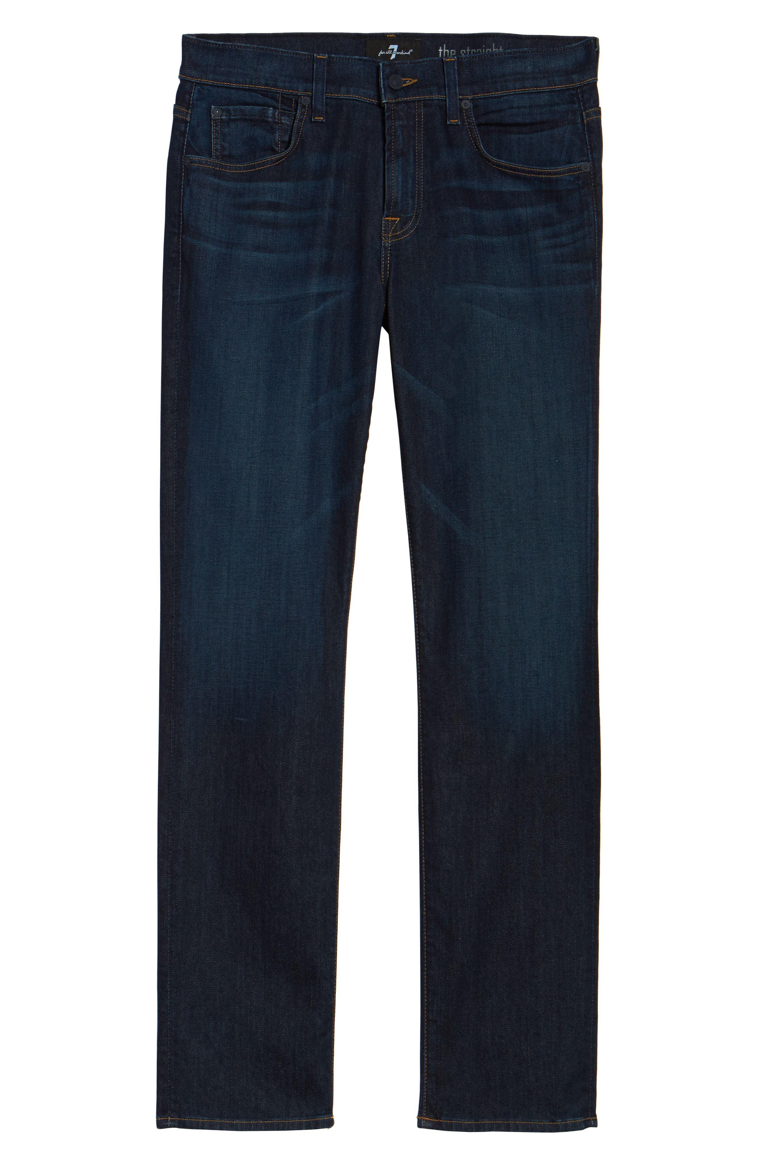 Luxe Performance Straight Leg Jeans,                             Alternate thumbnail 6, color,                             NORTH PACIFIC