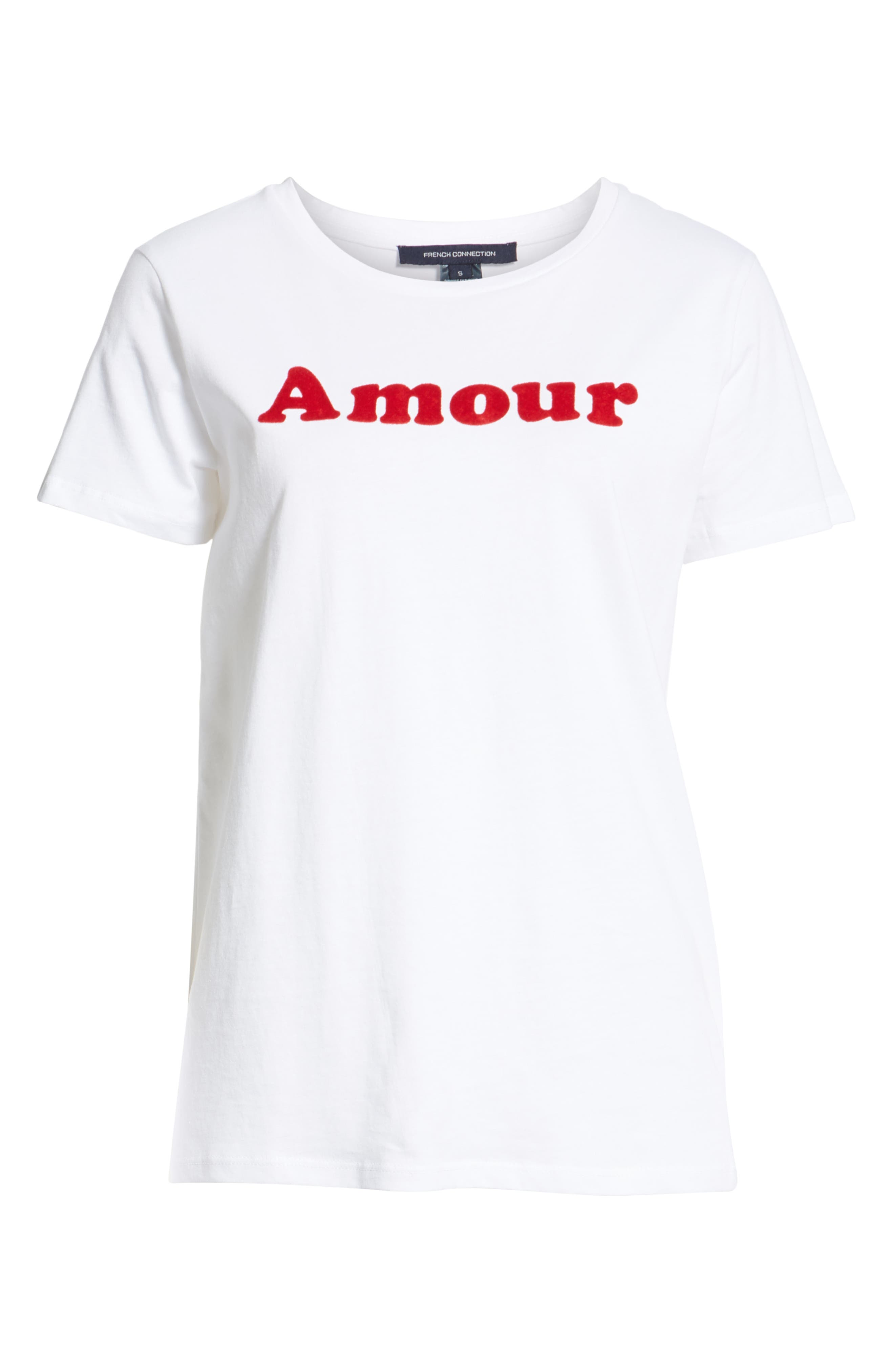 Amour Graphic Tee,                             Alternate thumbnail 6, color,                             WHITE