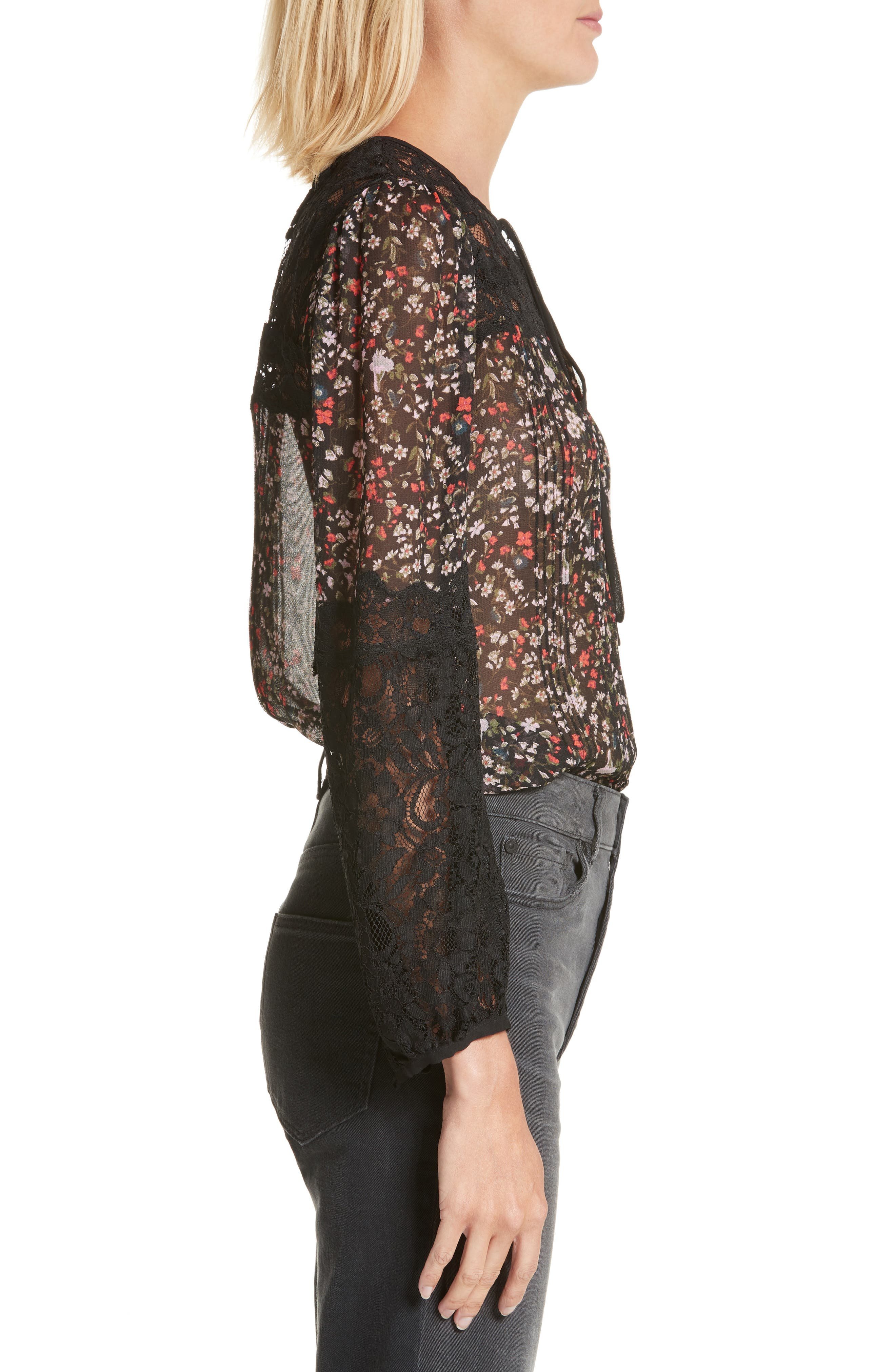 Lyra Lace Top,                             Alternate thumbnail 3, color,                             014