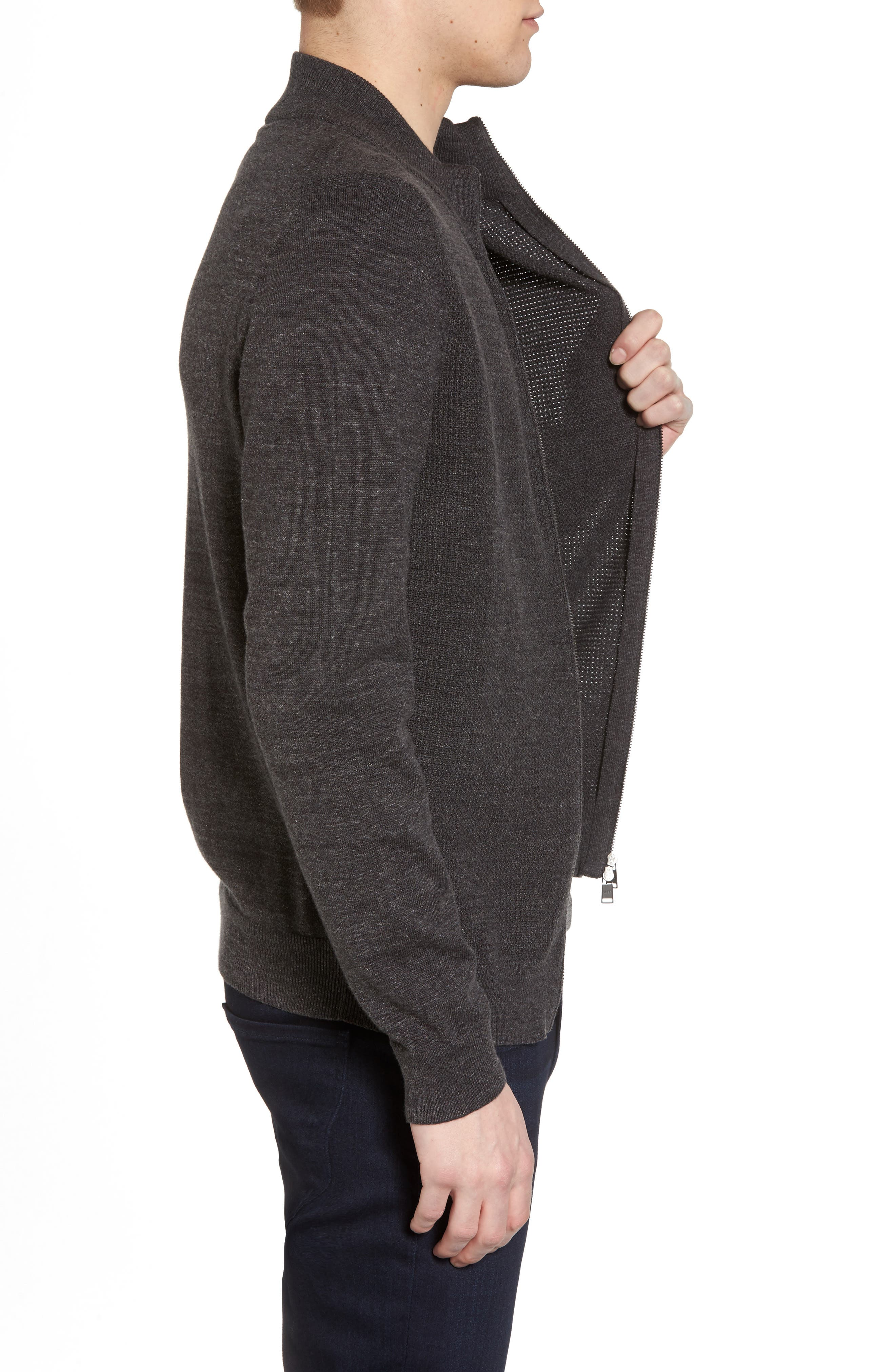 Devino Cotton Zip Jacket,                             Alternate thumbnail 3, color,                             061