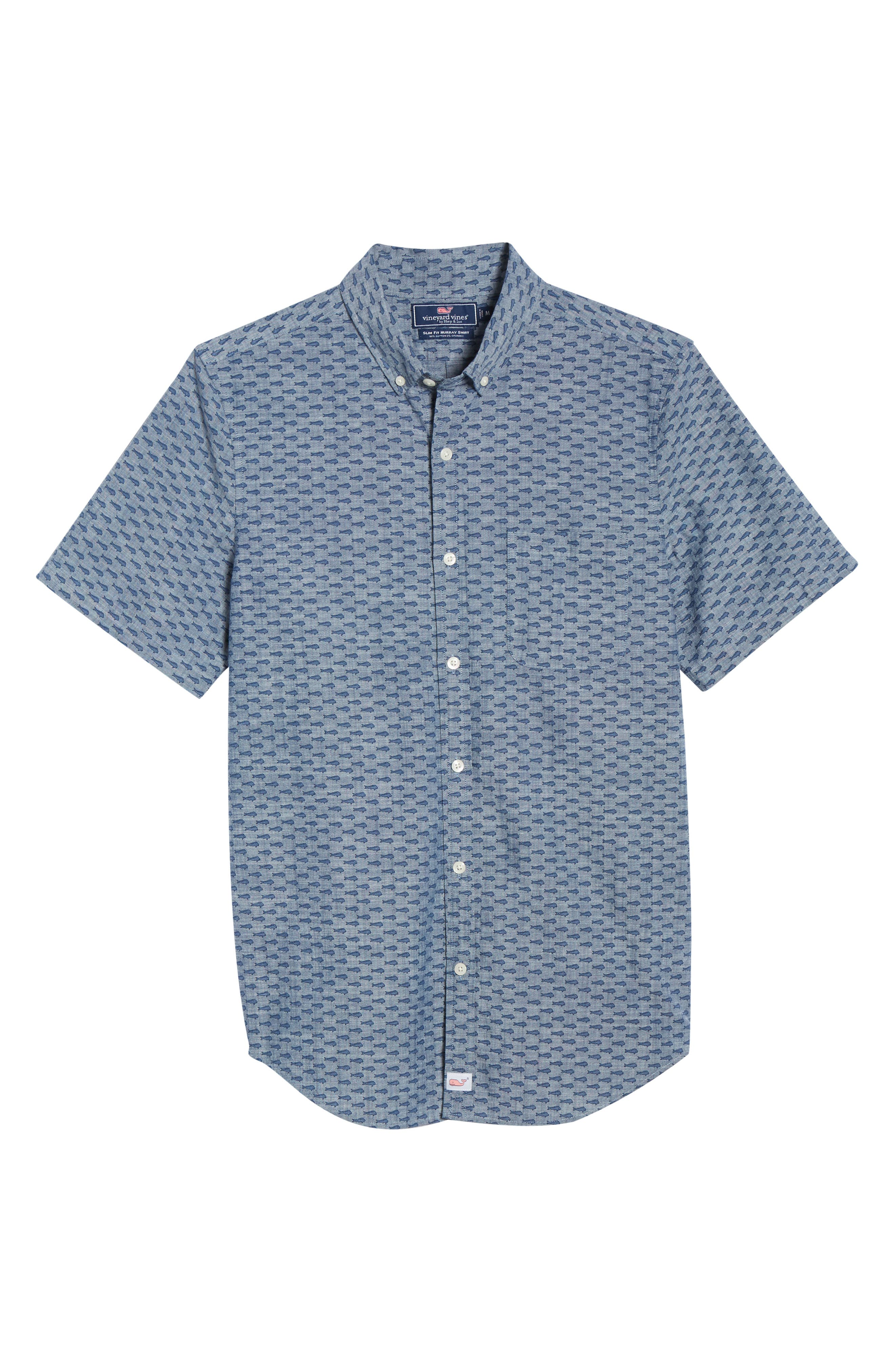VINEYARD VINES,                             Murray Slim Fit Sport Shirt,                             Alternate thumbnail 5, color,                             SKYFALL