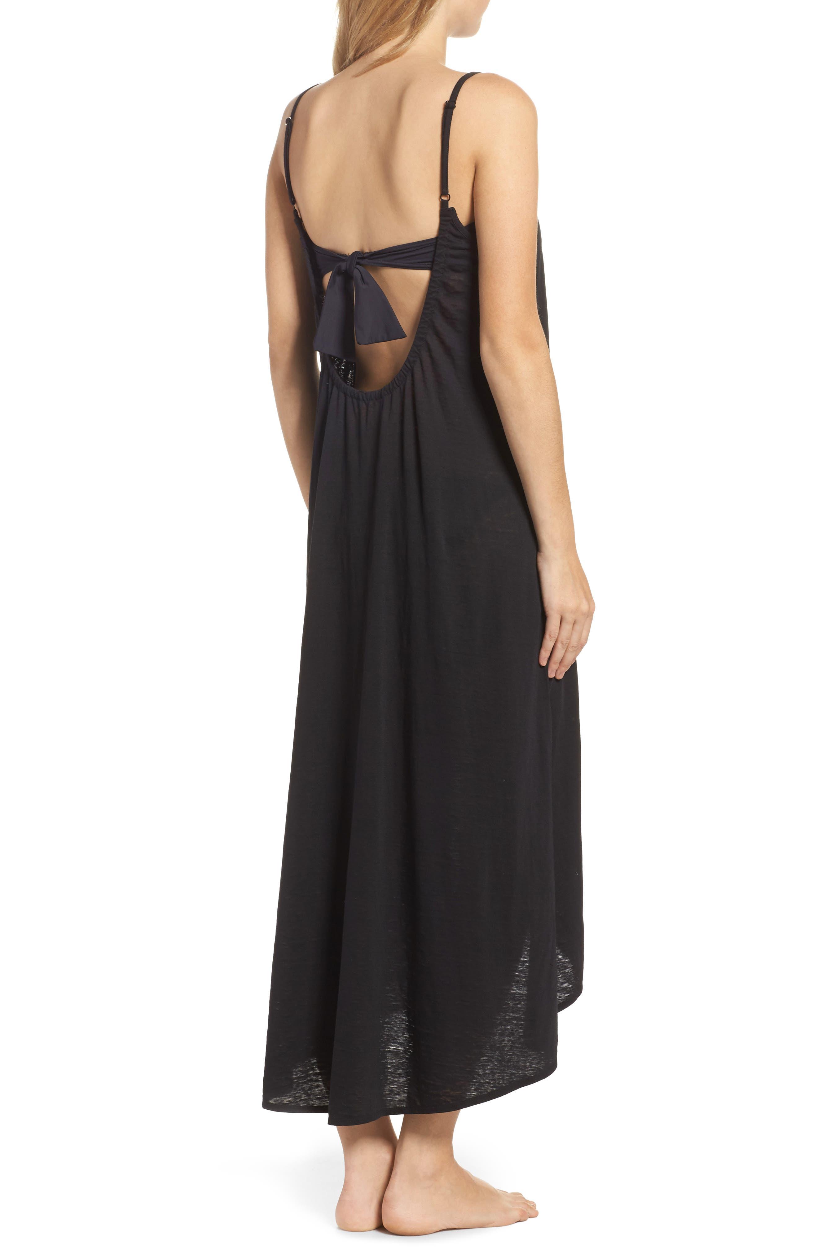 Maxi Cover-Up Dress,                             Alternate thumbnail 2, color,                             001