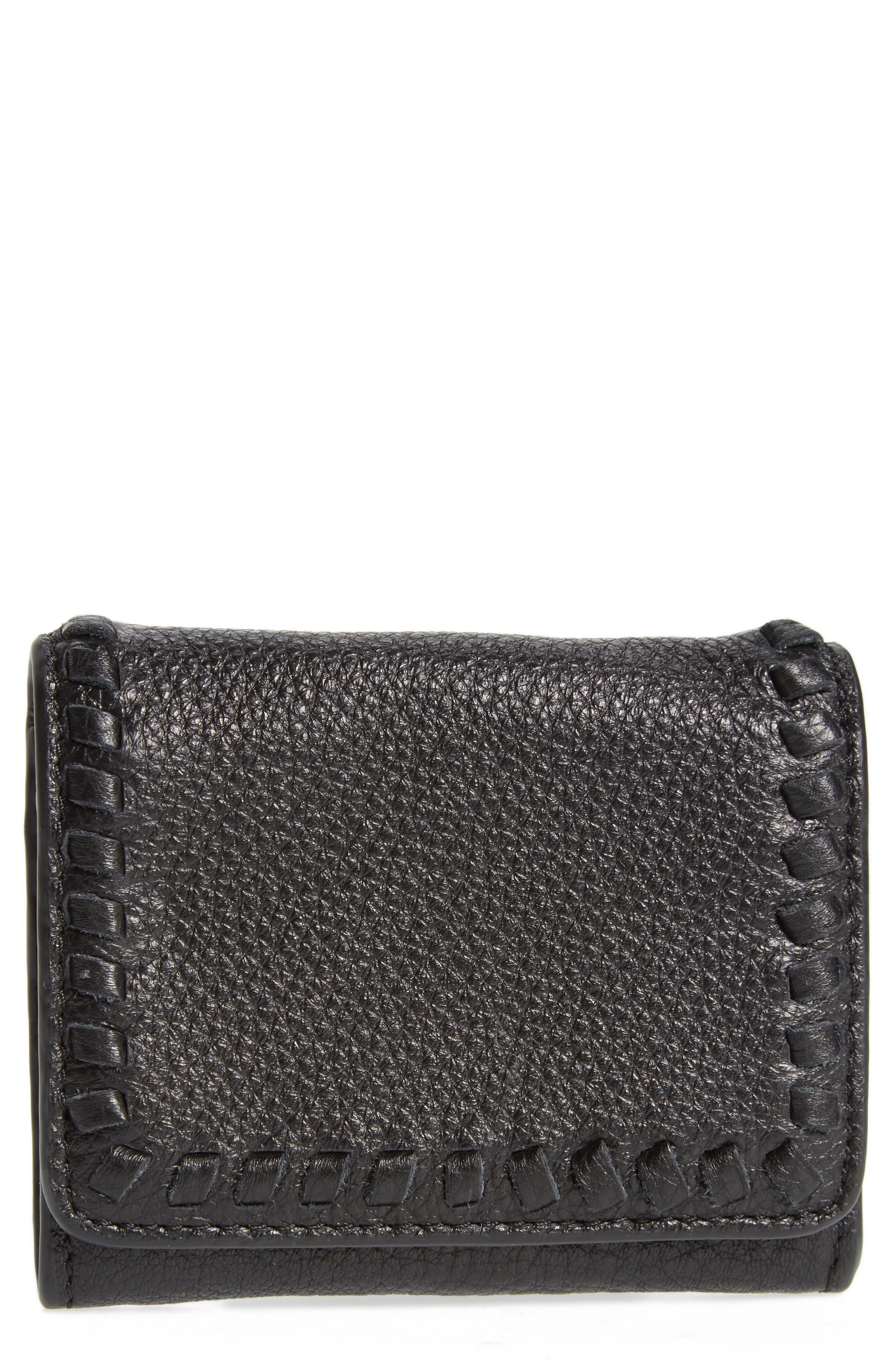 Mini Vanity Leather Wallet,                             Main thumbnail 1, color,                             001