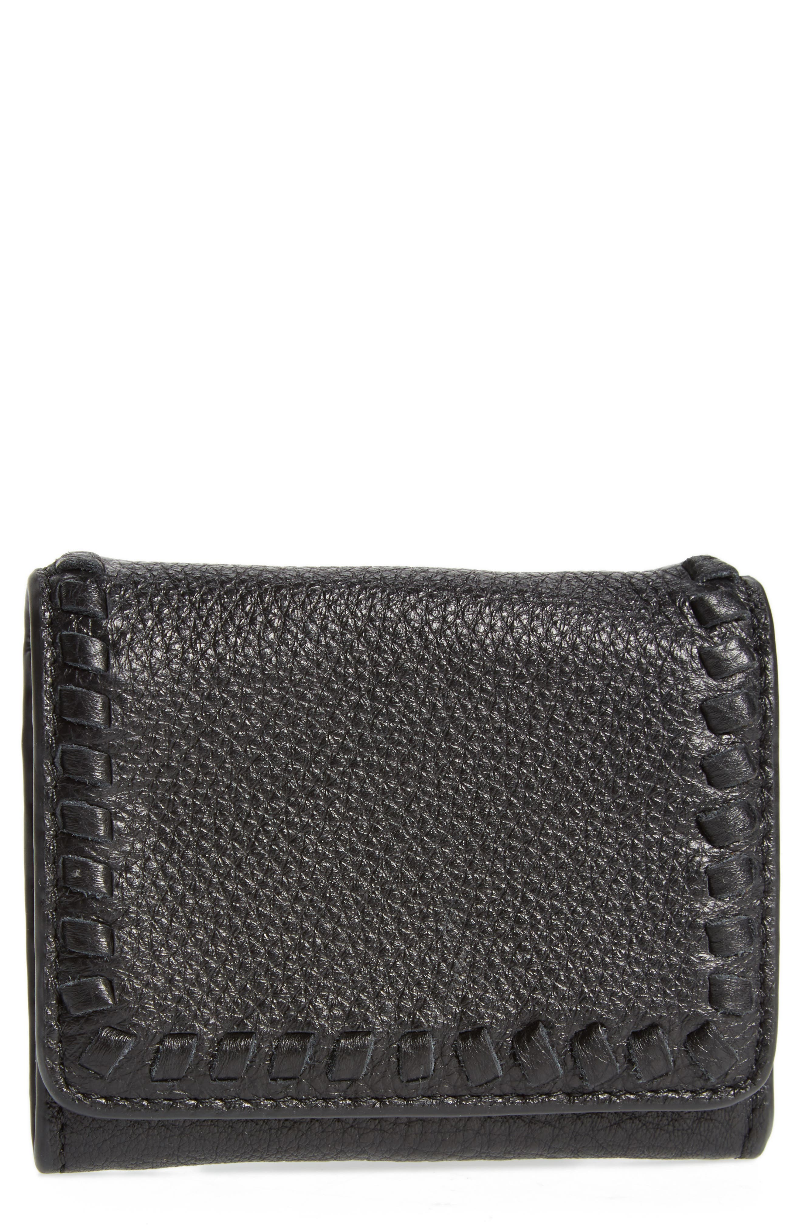 Mini Vanity Leather Wallet,                         Main,                         color, 001