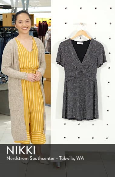 Sparkle Stripe Twist Front Minidress, sales video thumbnail