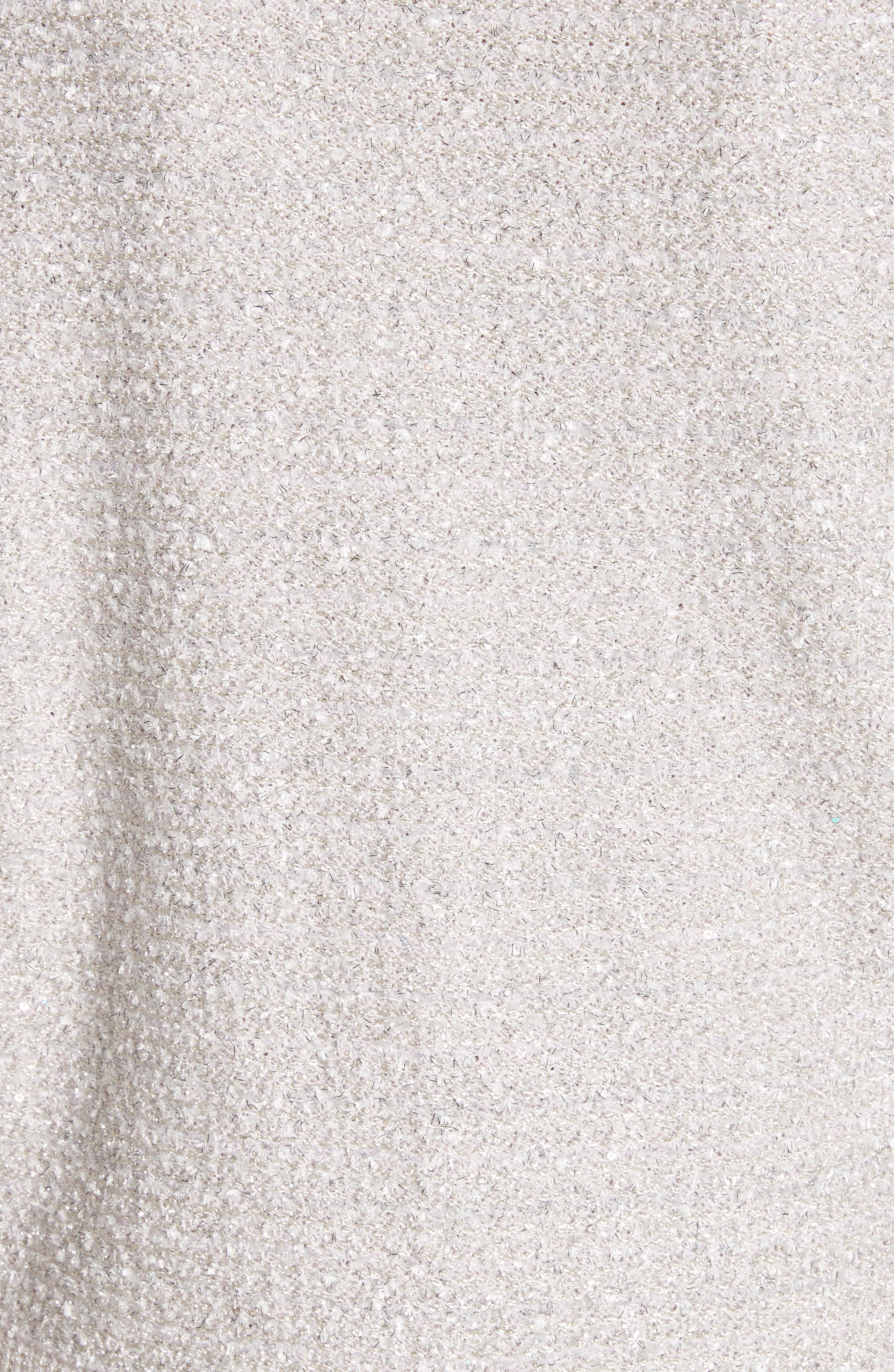 Metallic Eyelash Knit Jacket,                             Alternate thumbnail 6, color,