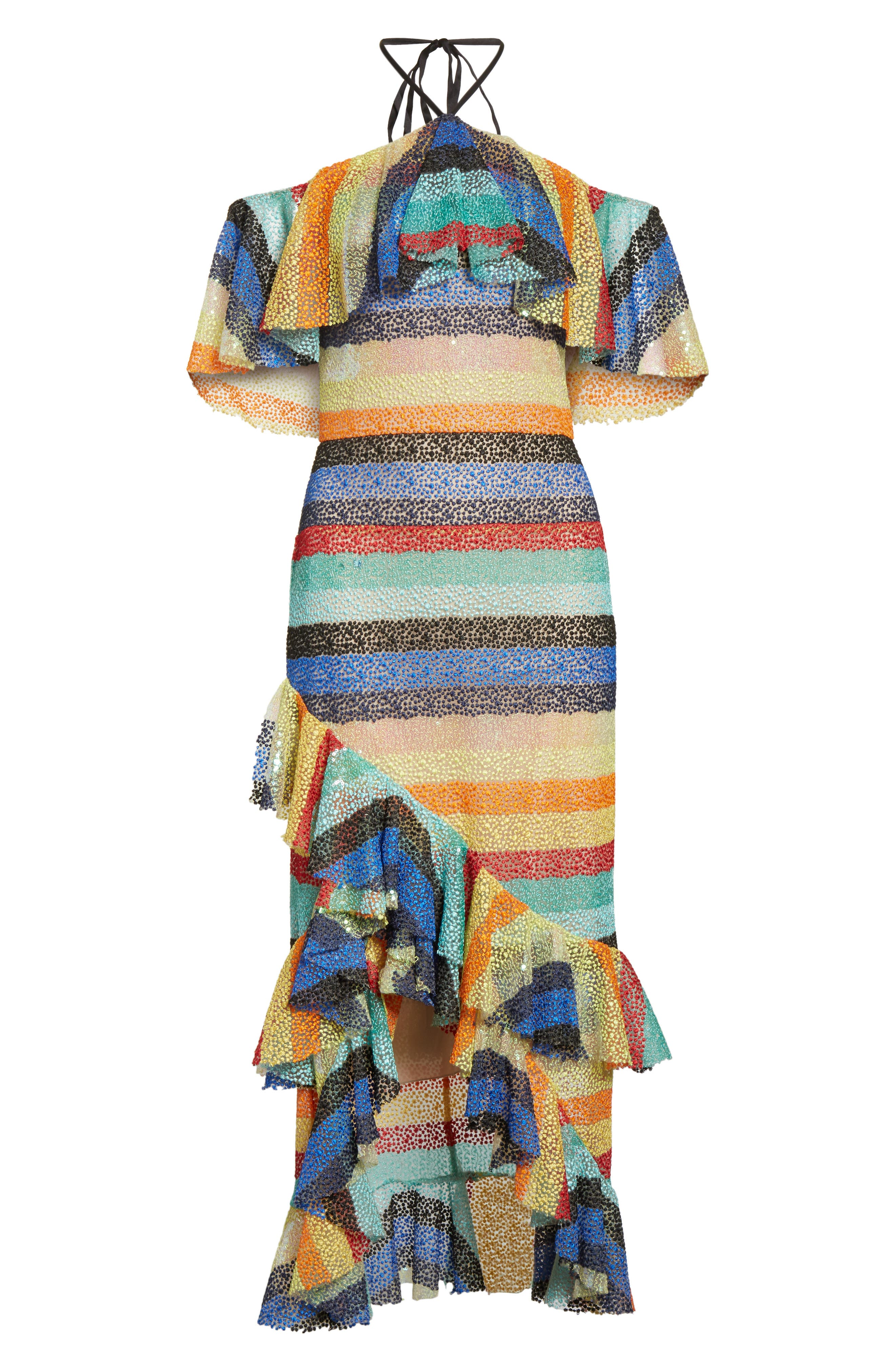Annabeth Off the Shoulder Midi Dress,                             Alternate thumbnail 6, color,                             006