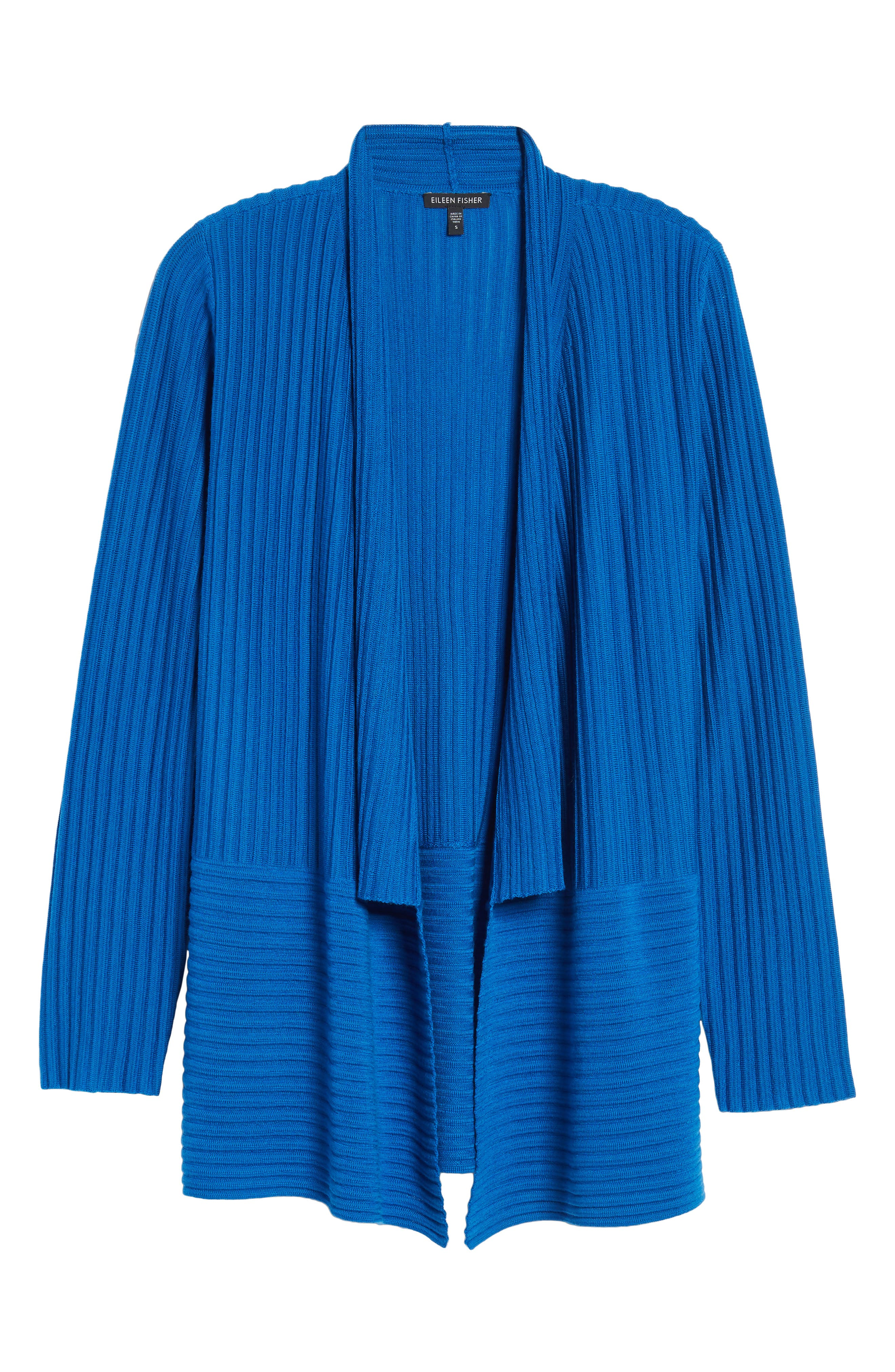 Ribbed Merino Wool Long Cardigan,                             Alternate thumbnail 35, color,