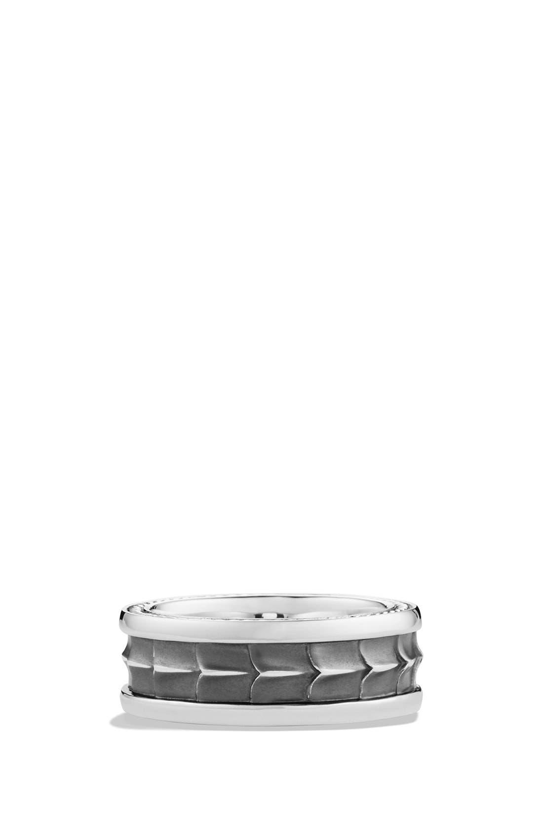 'Armory' Band Ring,                             Main thumbnail 1, color,                             SILVER