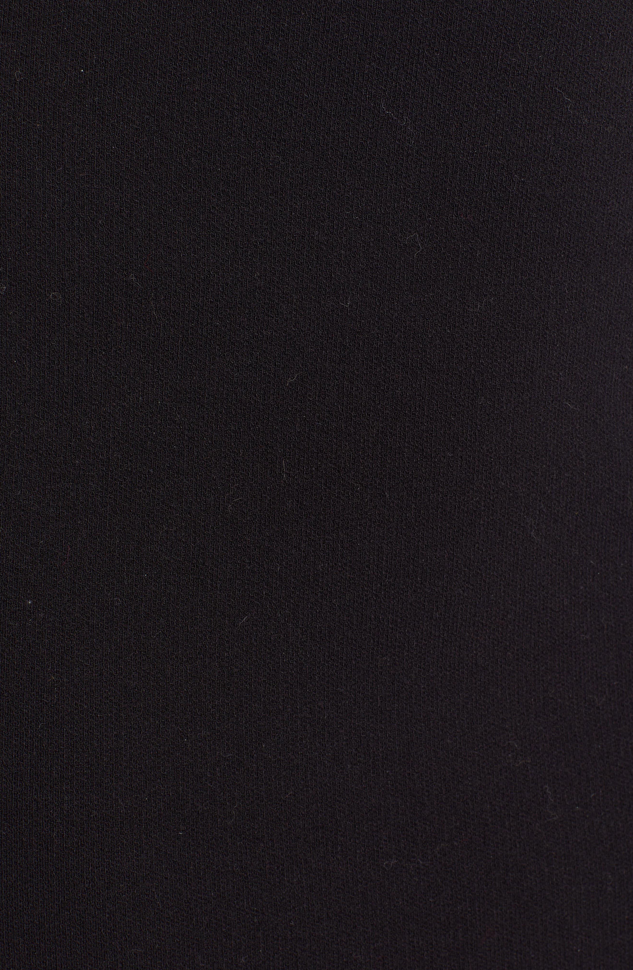 Logo Waist Pencil Skirt,                             Alternate thumbnail 5, color,                             BLACK