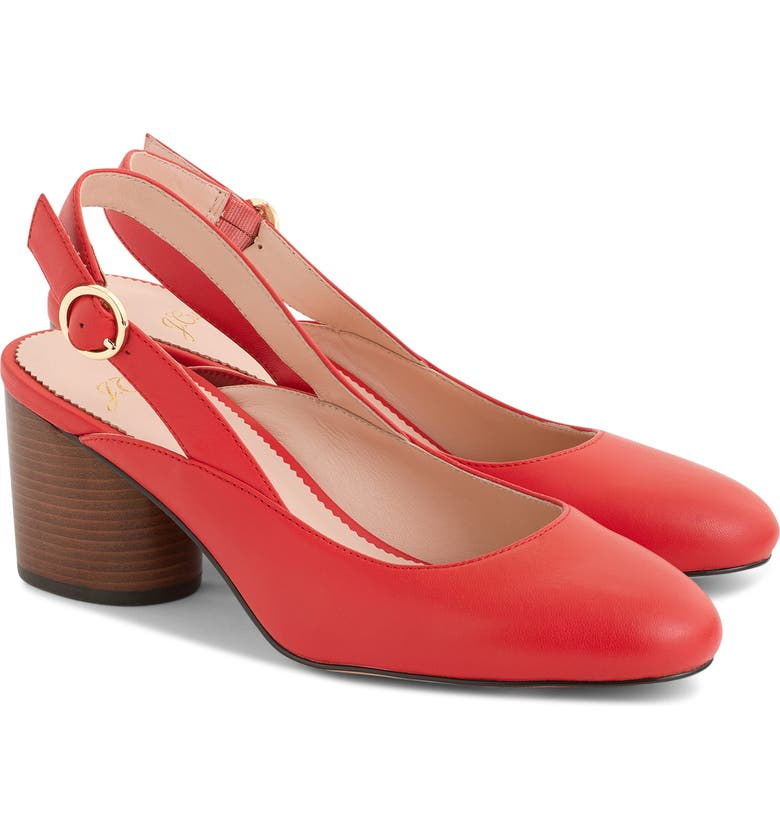 J.CREW Slingback Pump, Main, color, BRIGHT CERISE