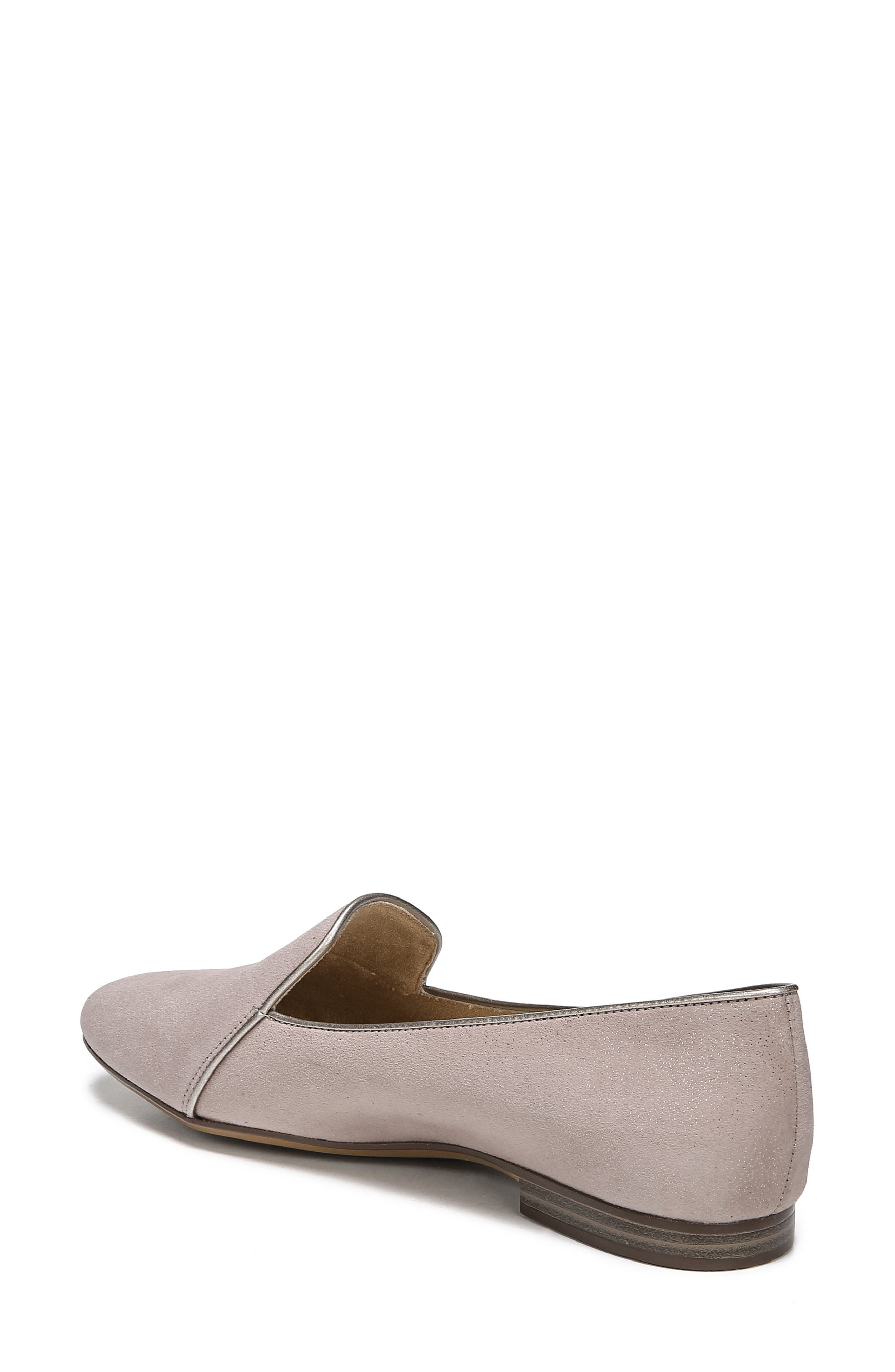 Emiline 2 Loafer,                             Alternate thumbnail 2, color,                             TAUPE GLITTER DUST SUEDE