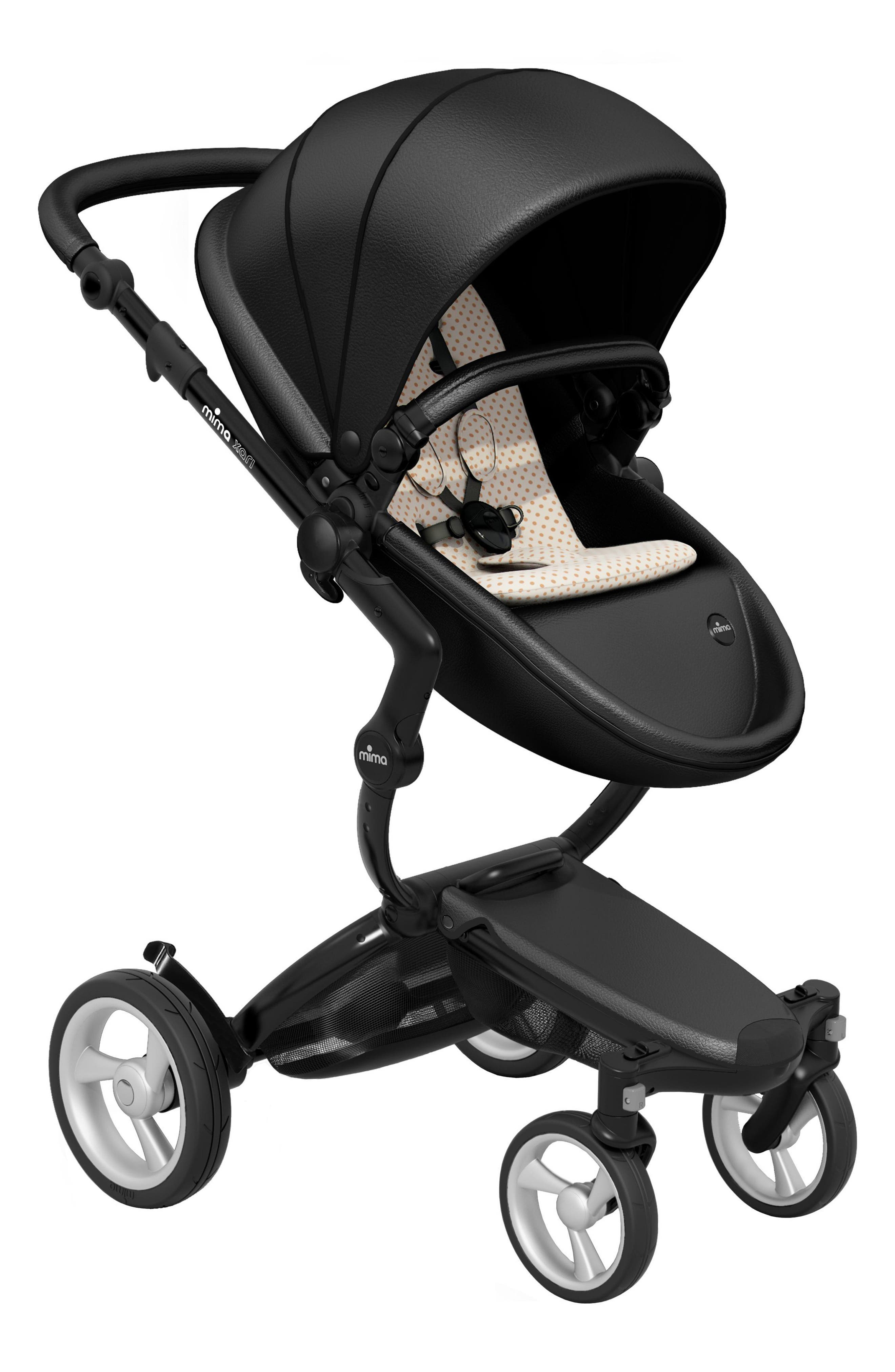 Infant Mima Xari Black Chassis Stroller With Reversible Reclining Seat  Carrycot Size One Size  Black