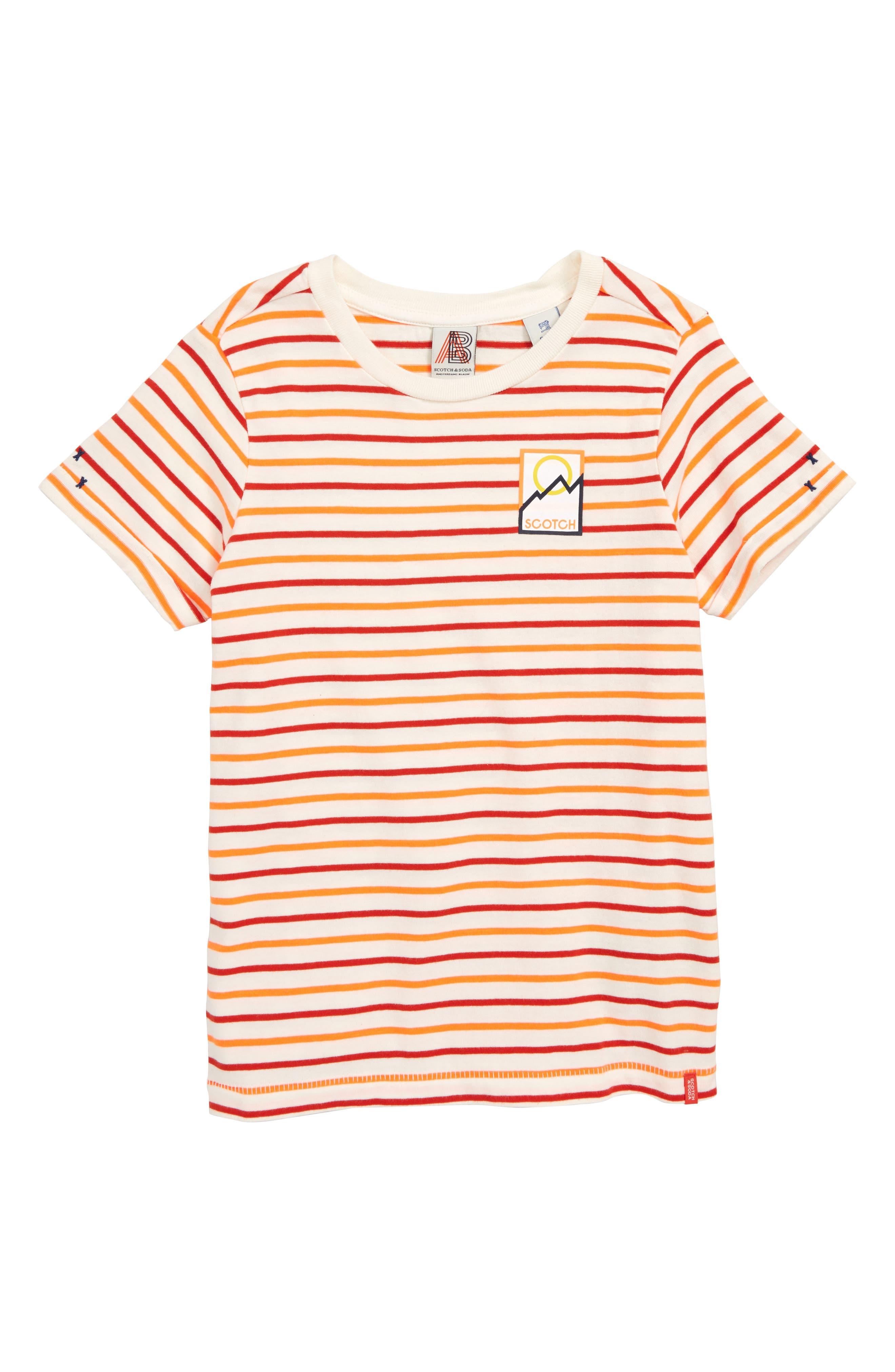 Regular Fit T-Shirt,                             Main thumbnail 1, color,                             ORANGE