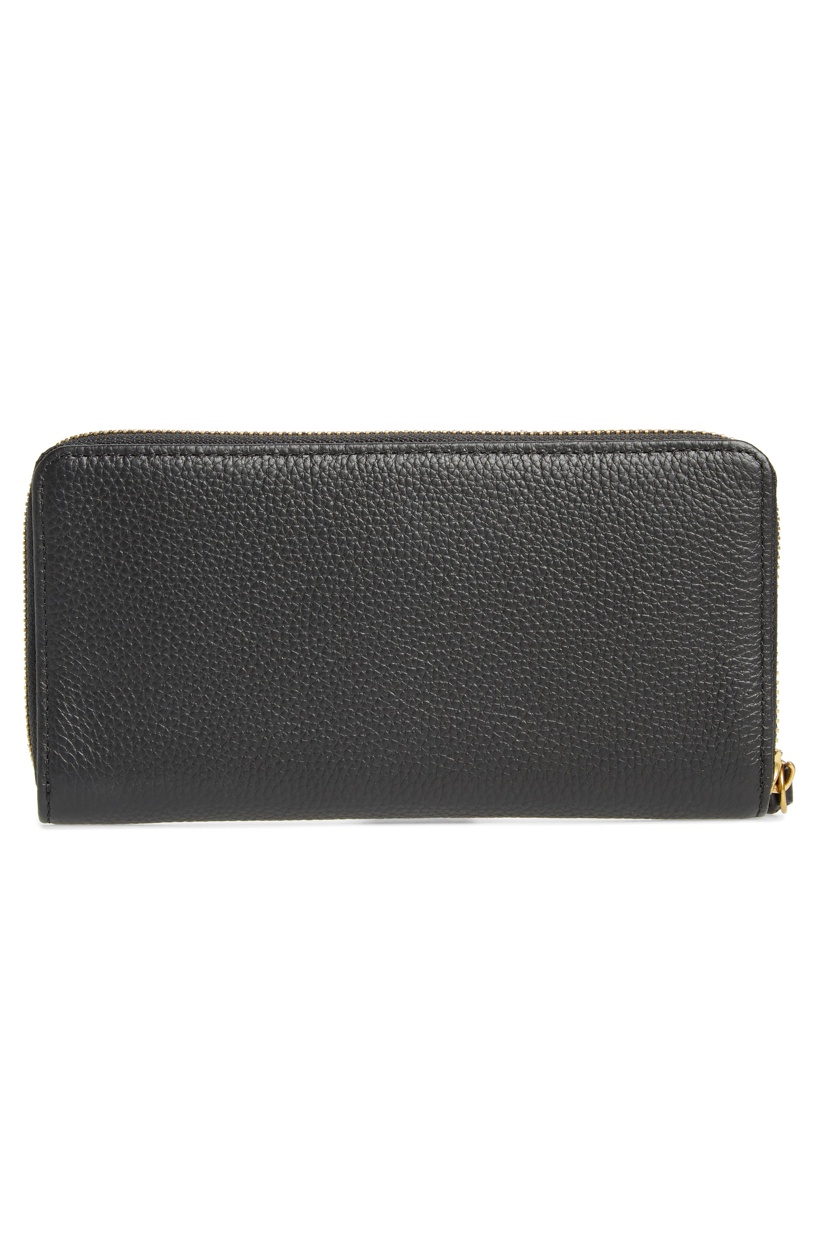 Zip Around Leather Wallet,                             Alternate thumbnail 9, color,