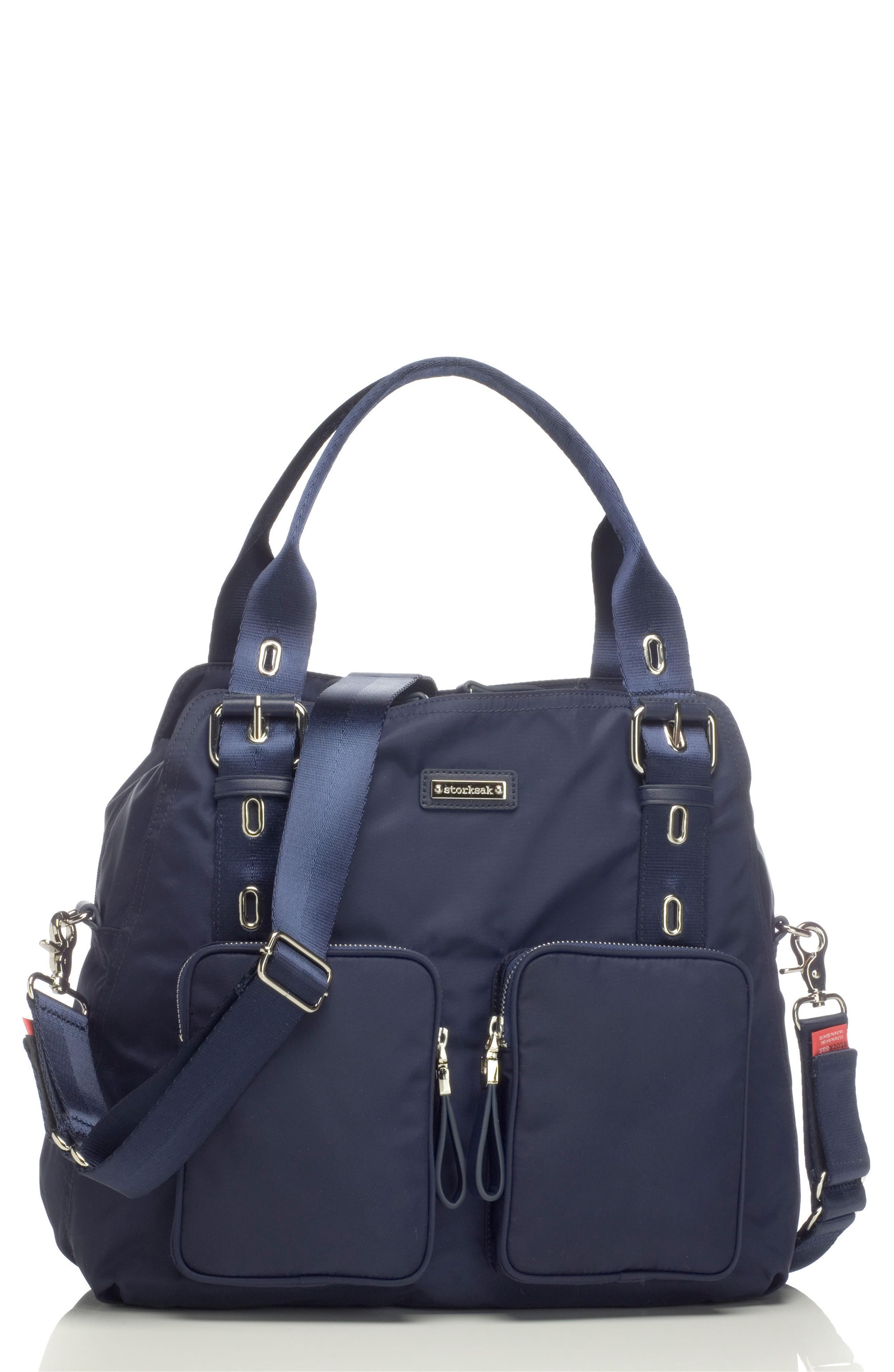 Storsak Alexa Diaper Bag,                         Main,                         color, NAVY