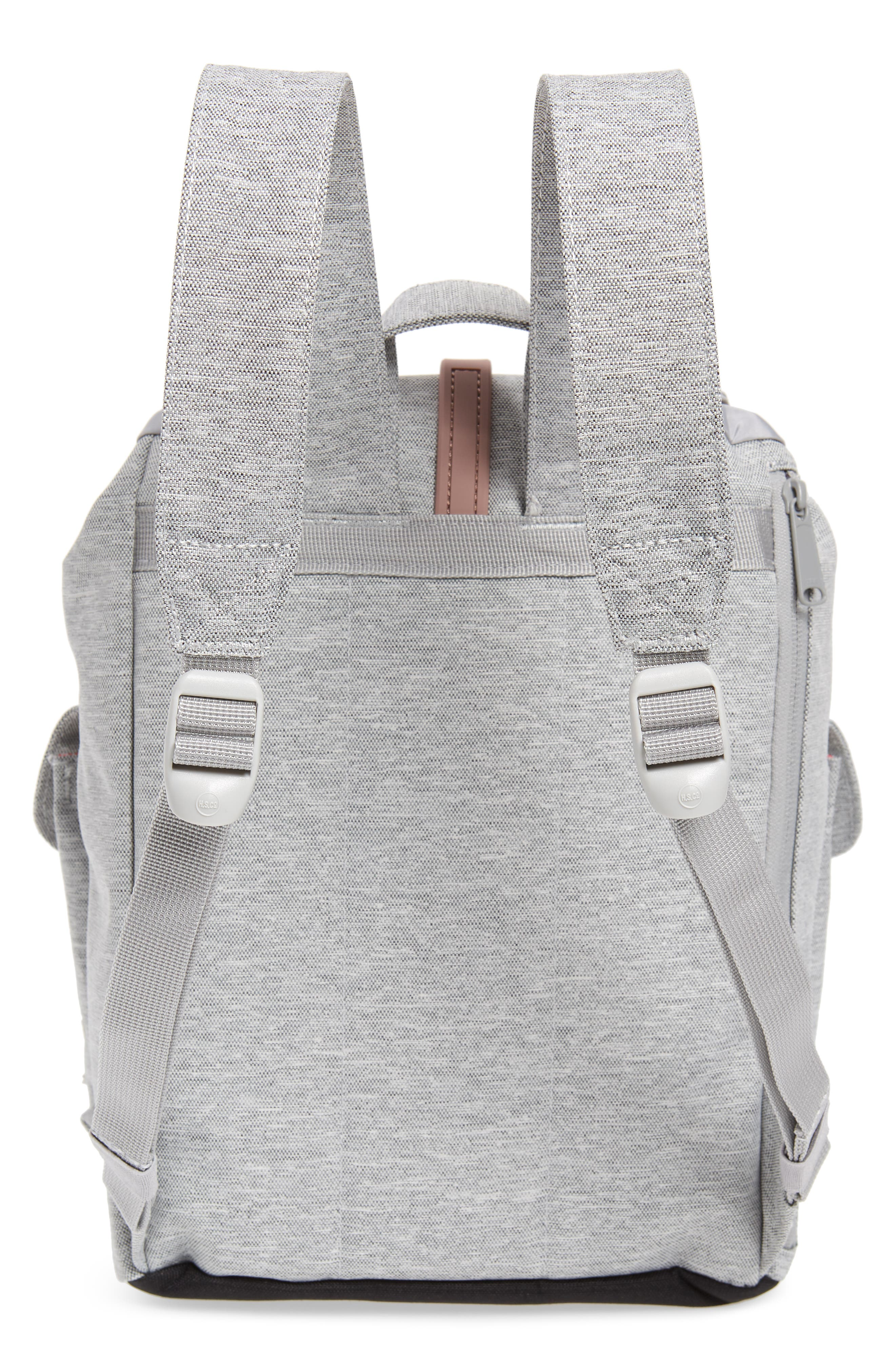 X-Small Dawson Backpack,                             Alternate thumbnail 3, color,                             LIGHT GREY/ ASH ROSE/ BLACK