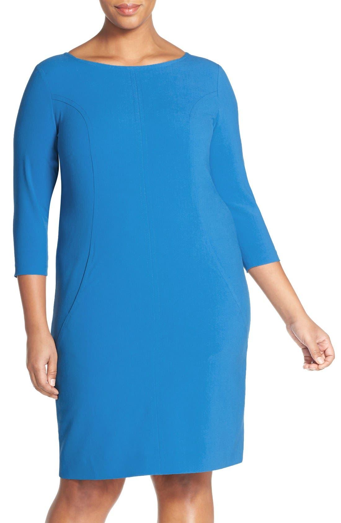 by Arthur S. Levine Seamed A-Line Dress,                             Main thumbnail 6, color,