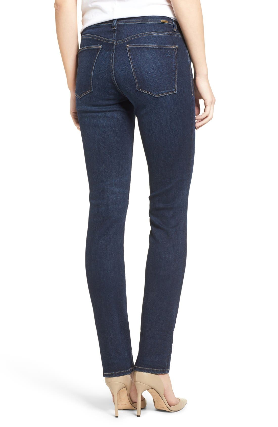 'Coco' Curvy Slim Straight Leg Jeans,                             Alternate thumbnail 7, color,