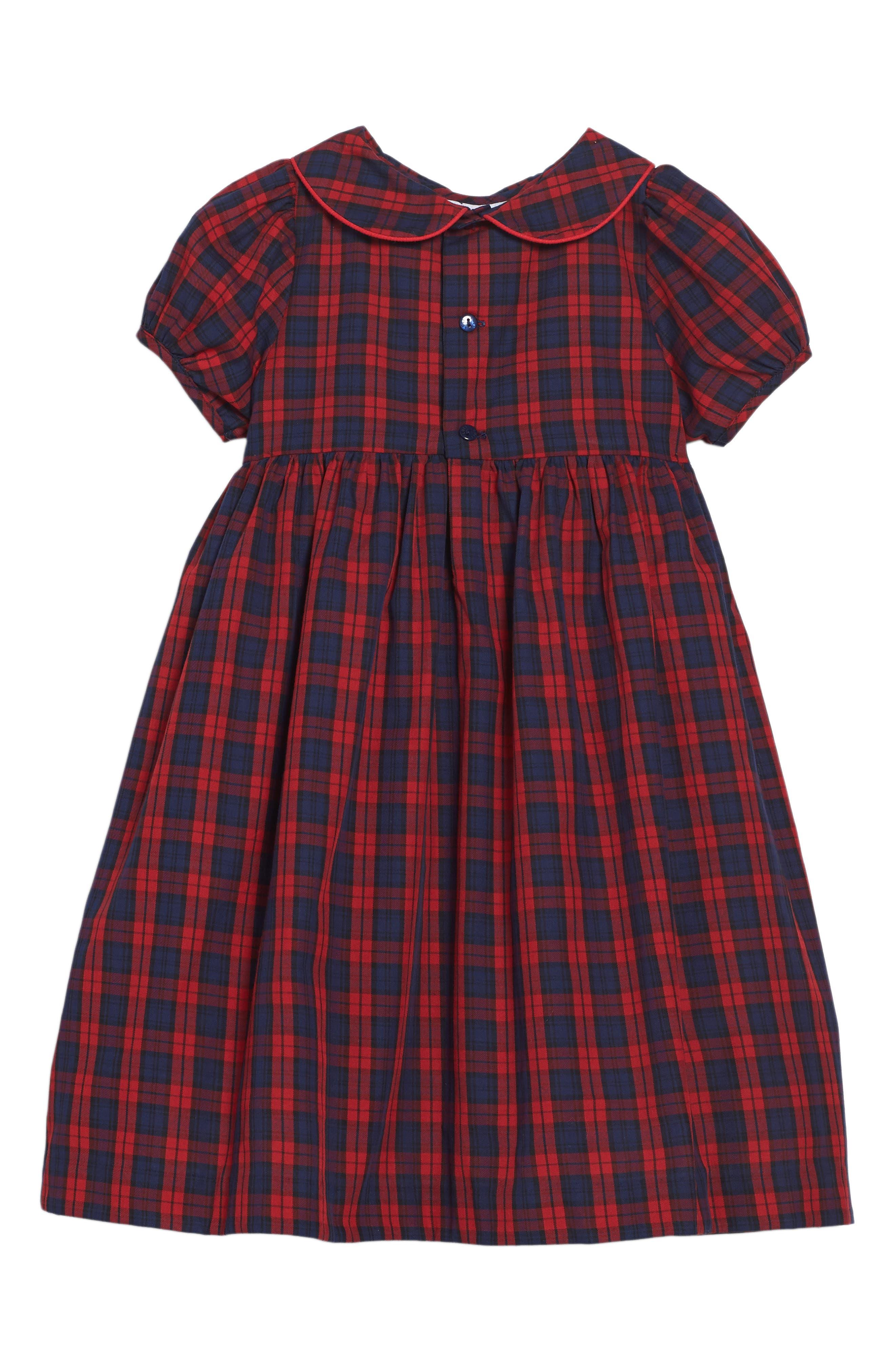 Plaid Dress,                             Alternate thumbnail 2, color,                             600