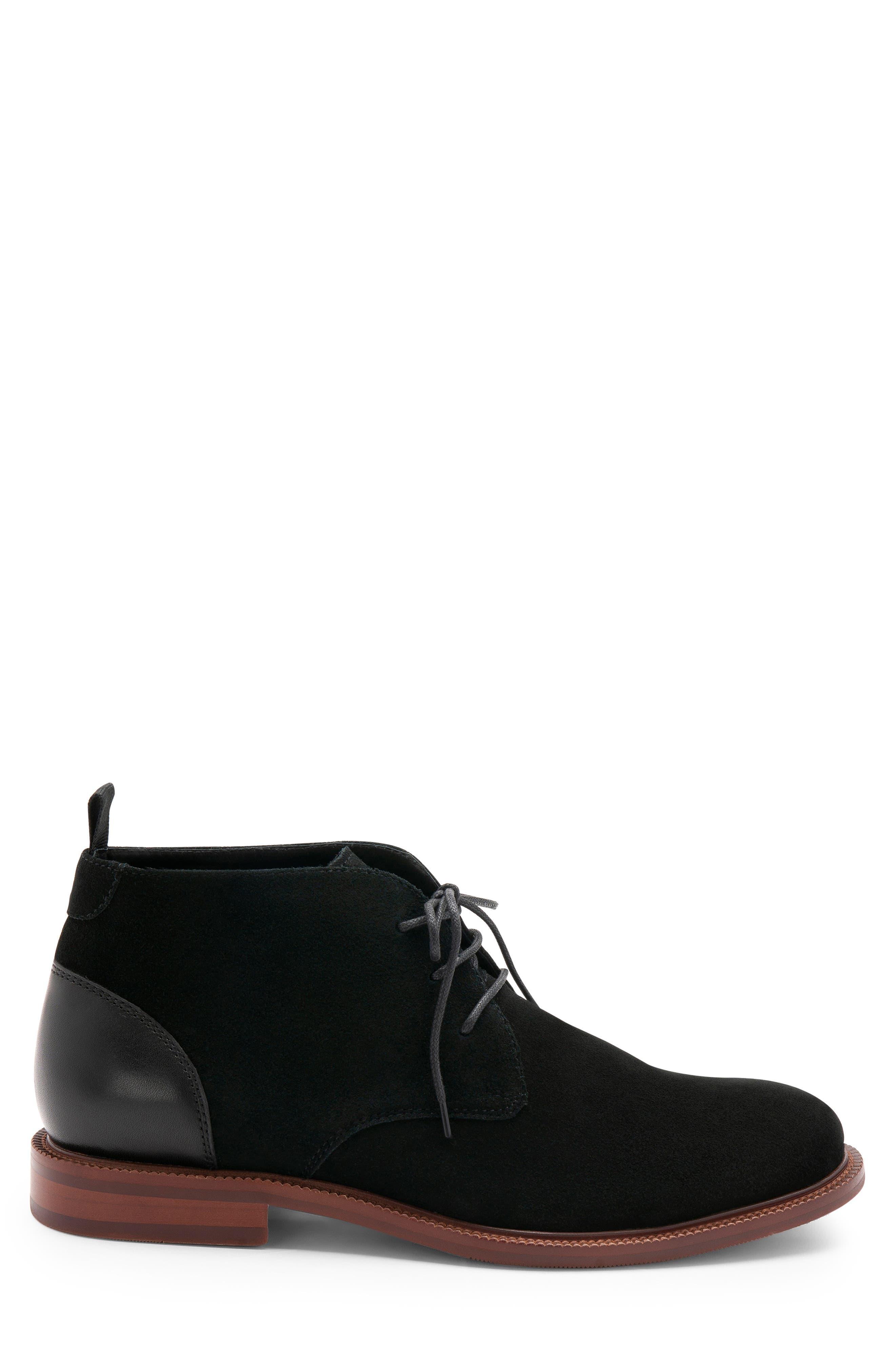 Keith Waterproof Chukka Boot,                             Alternate thumbnail 3, color,                             BLACK SUEDE