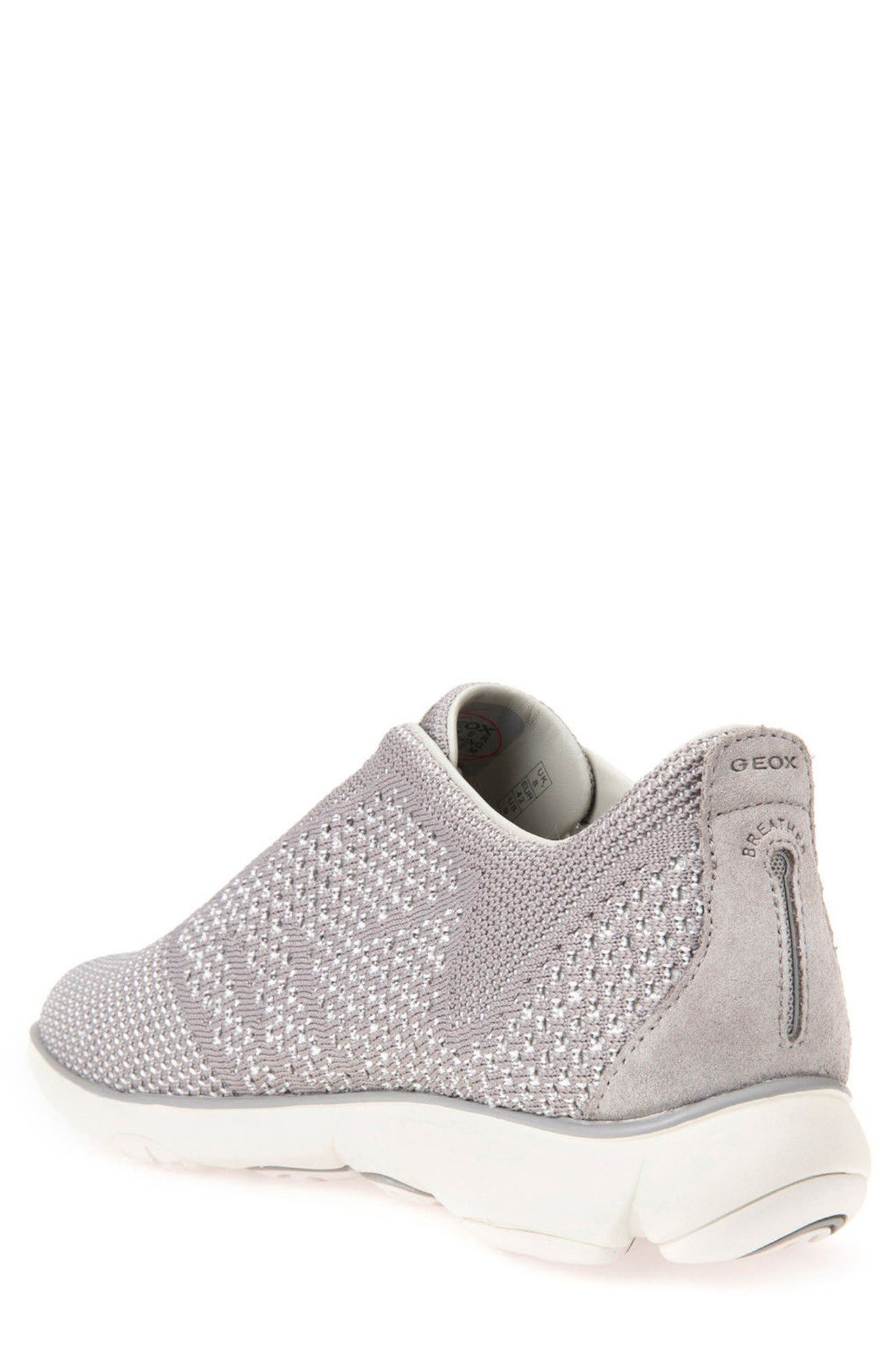 Nebula 42 Laceless Knit Sneaker,                             Alternate thumbnail 2, color,                             STONE/ WHITE