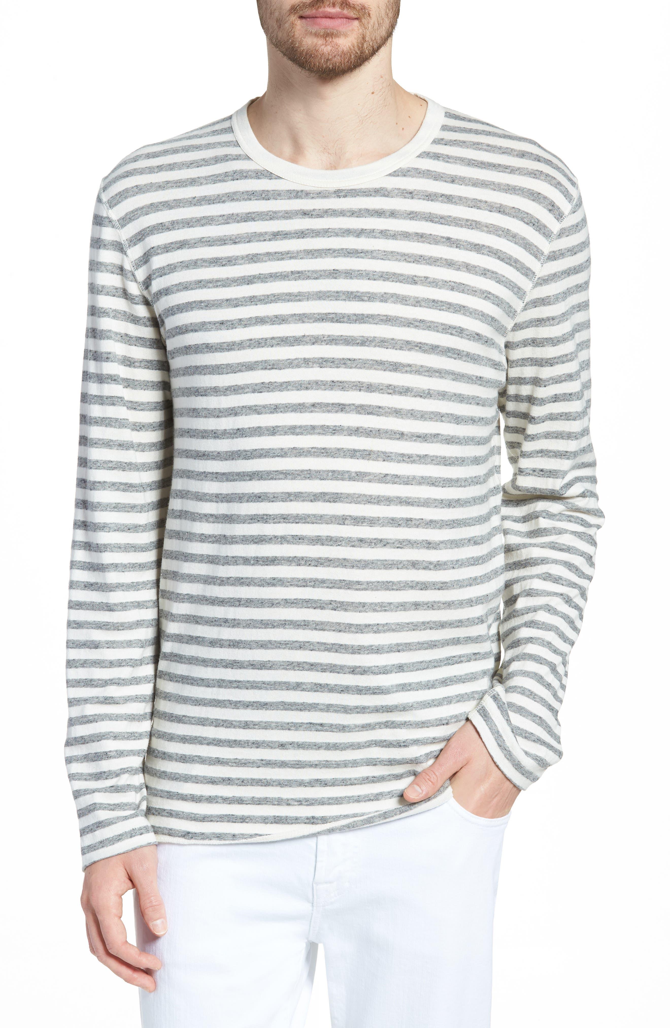 Stripe Long Sleeve Shirt,                             Main thumbnail 1, color,