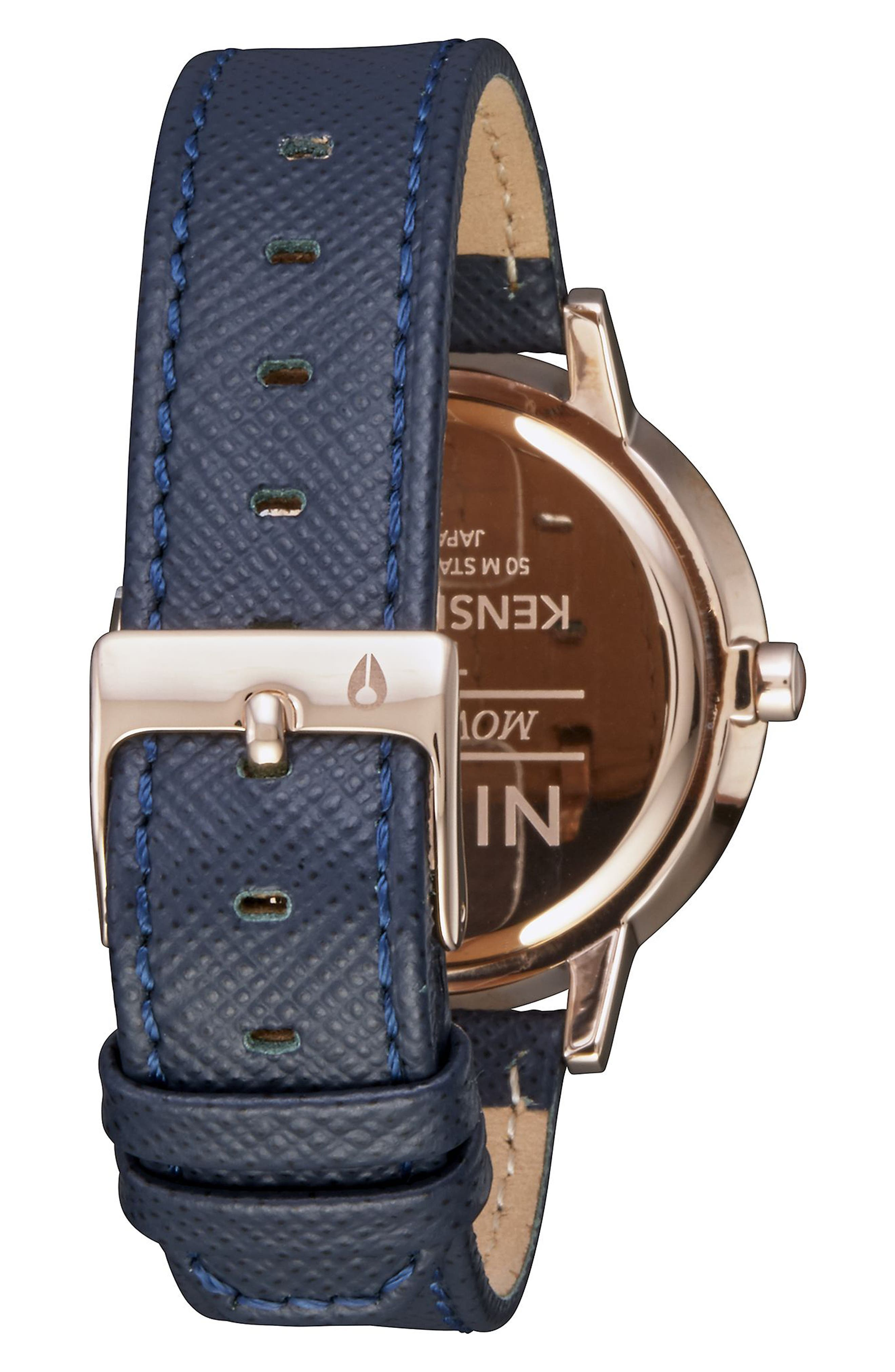 'The Kensington' Leather Strap Watch, 37mm,                             Alternate thumbnail 27, color,