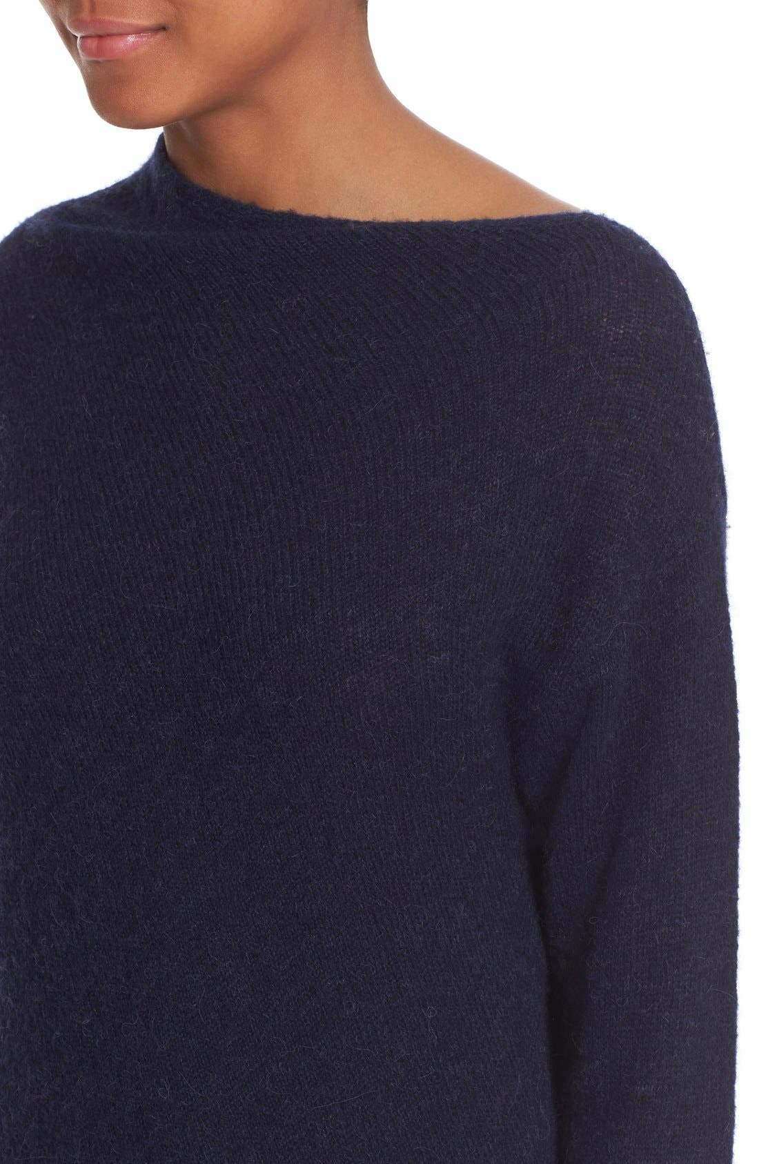 Asymmetrical Neck Sweater,                             Alternate thumbnail 4, color,                             401