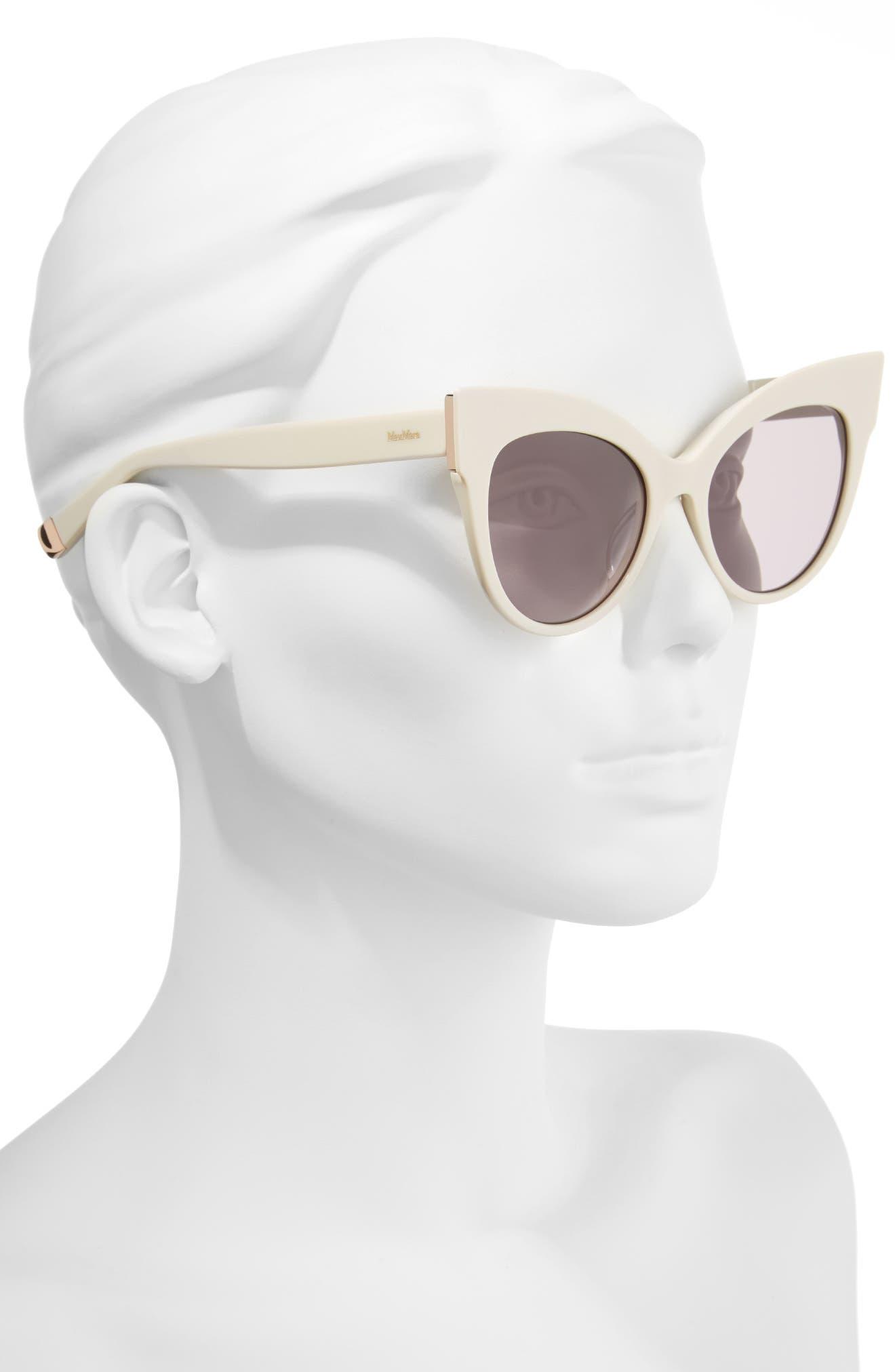 Anita 52mm Cat Eye Sunglasses,                             Alternate thumbnail 8, color,