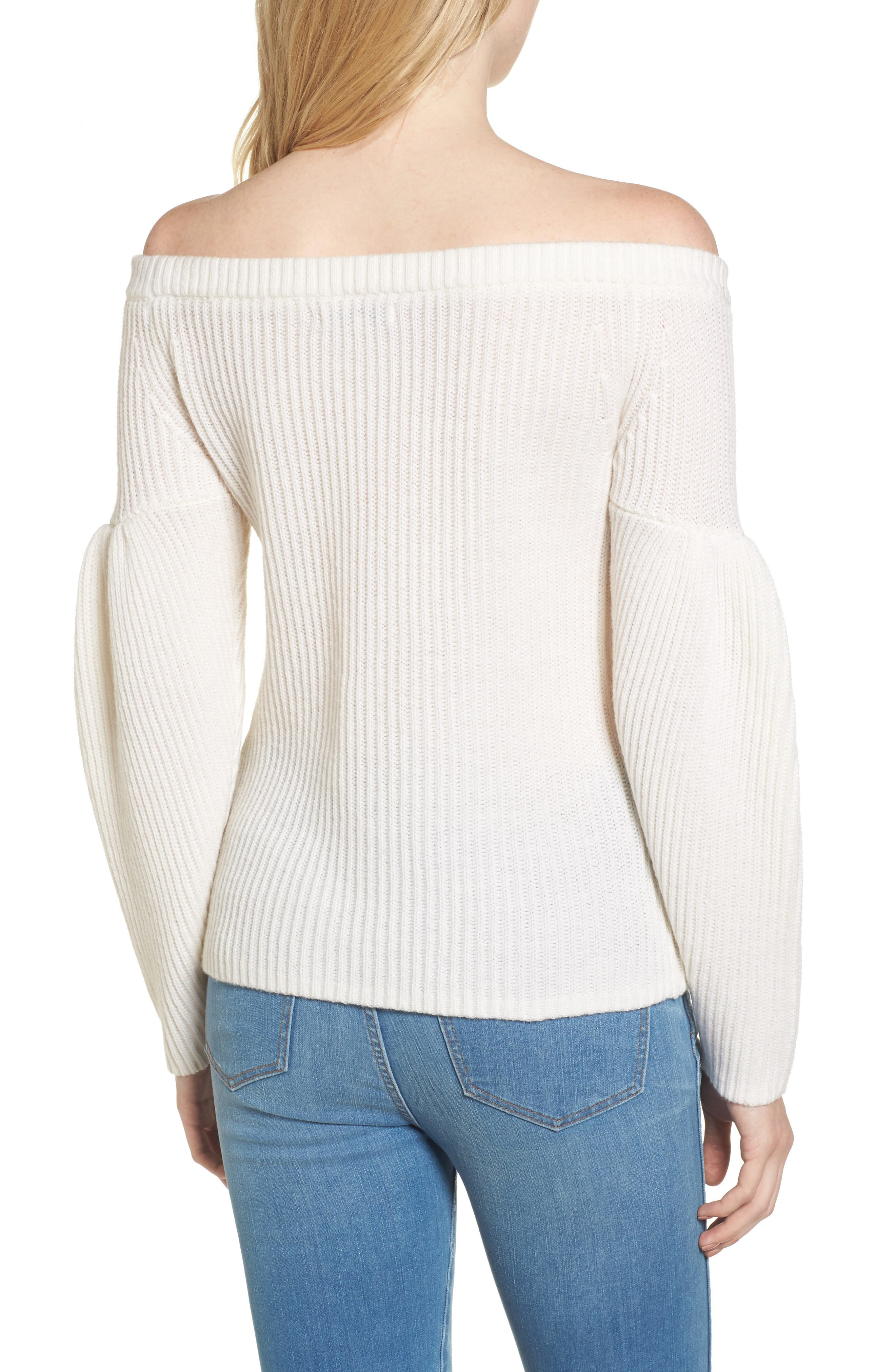 Lottie Off the Shoulder Sweater,                             Alternate thumbnail 4, color,