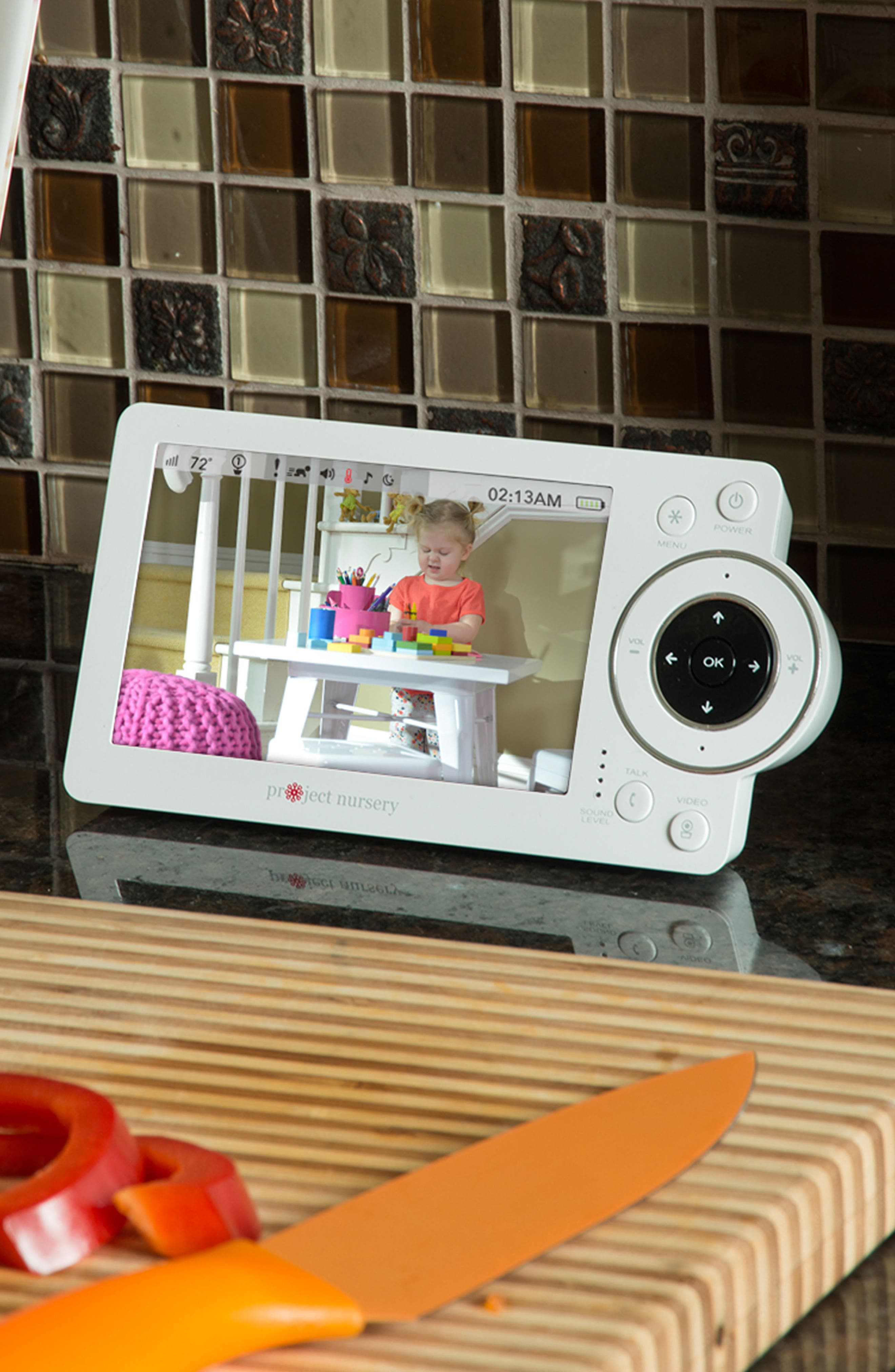 """5"""" High Definition Baby Monitor System with 1 1/2"""" Mini Monitor,                             Alternate thumbnail 4, color,                             100"""