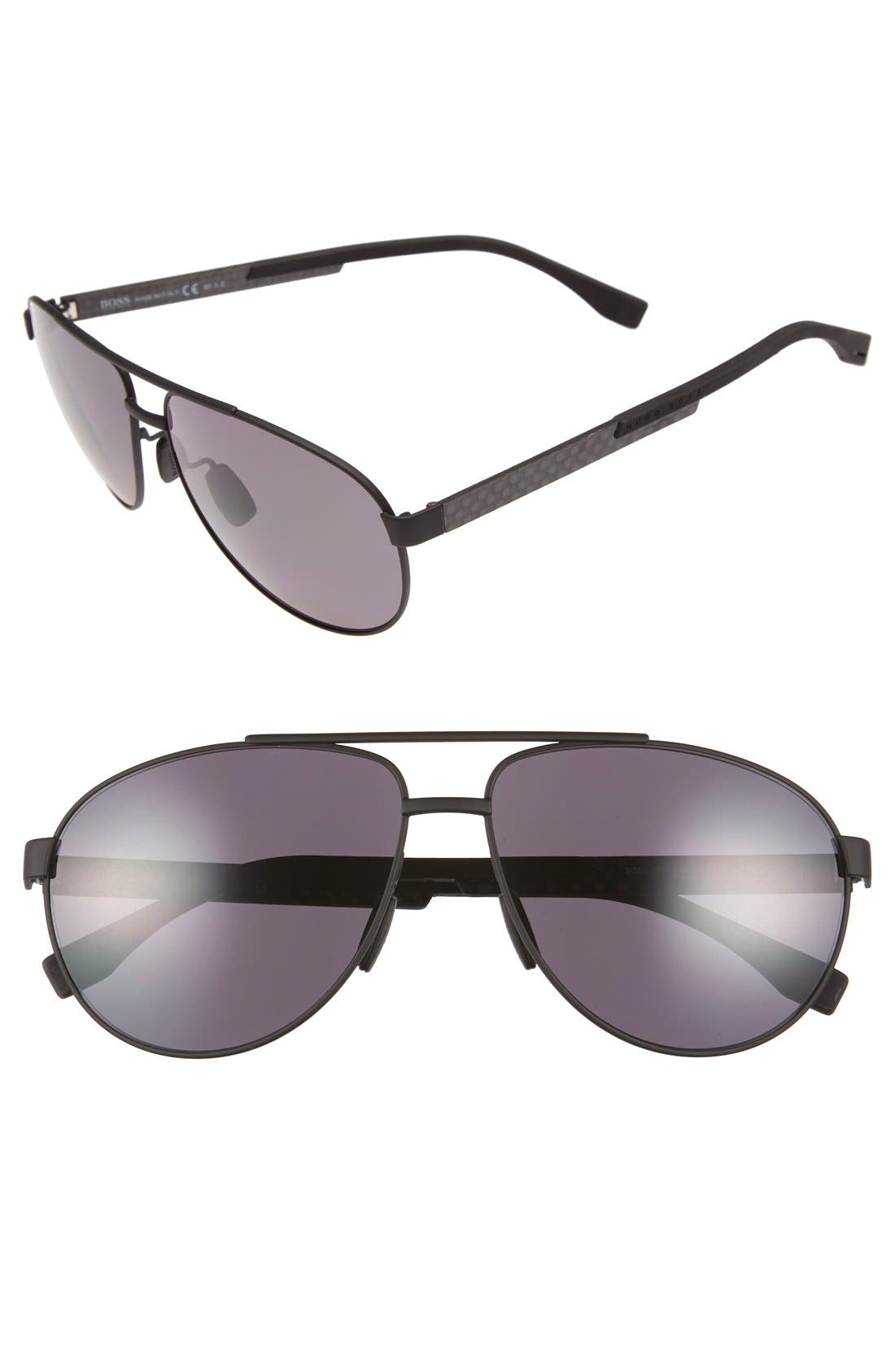 63mm Polarized Sunglasses,                             Main thumbnail 1, color,                             001