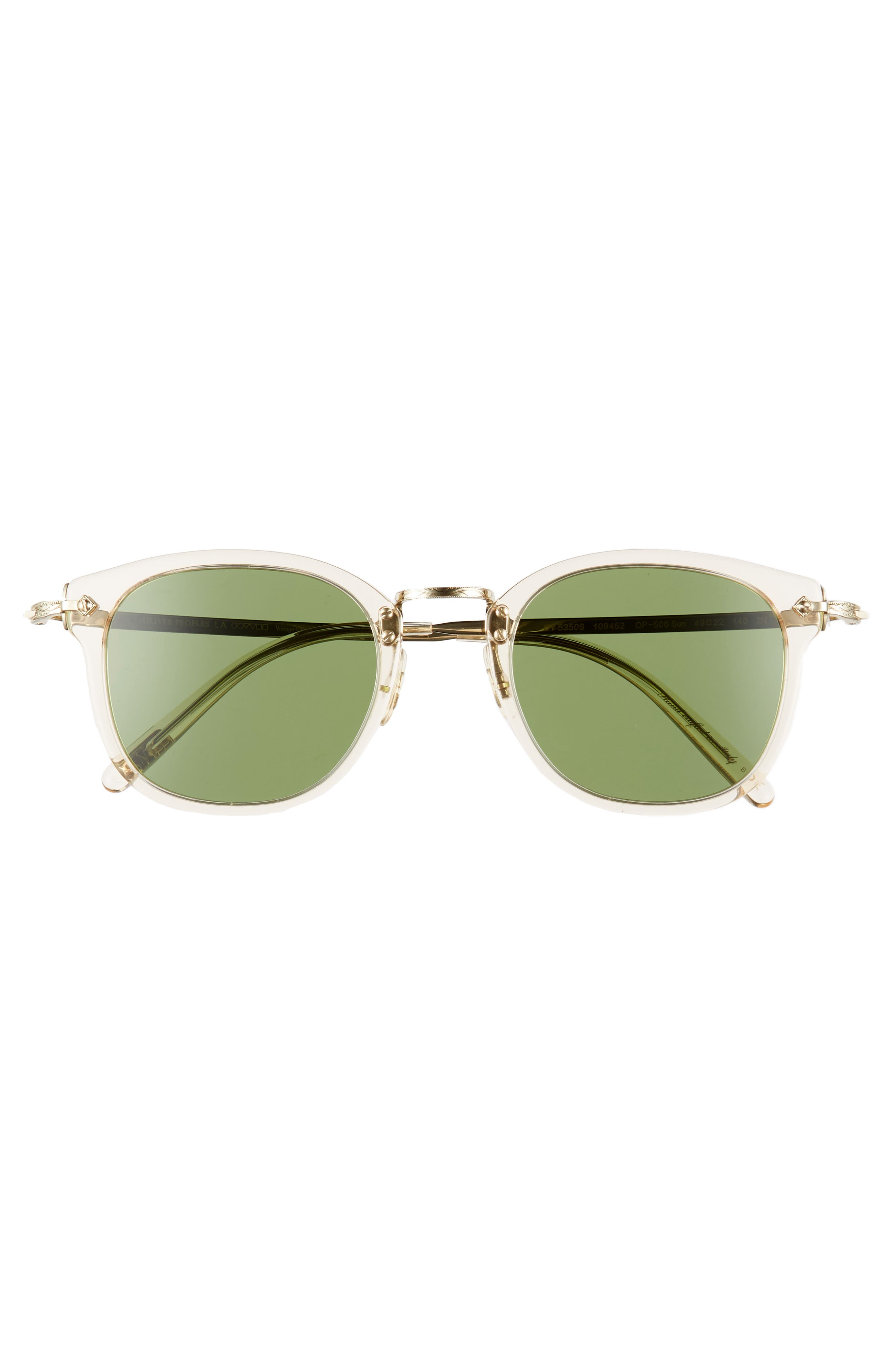 49mm Round Sunglasses,                             Alternate thumbnail 3, color,                             BUFF
