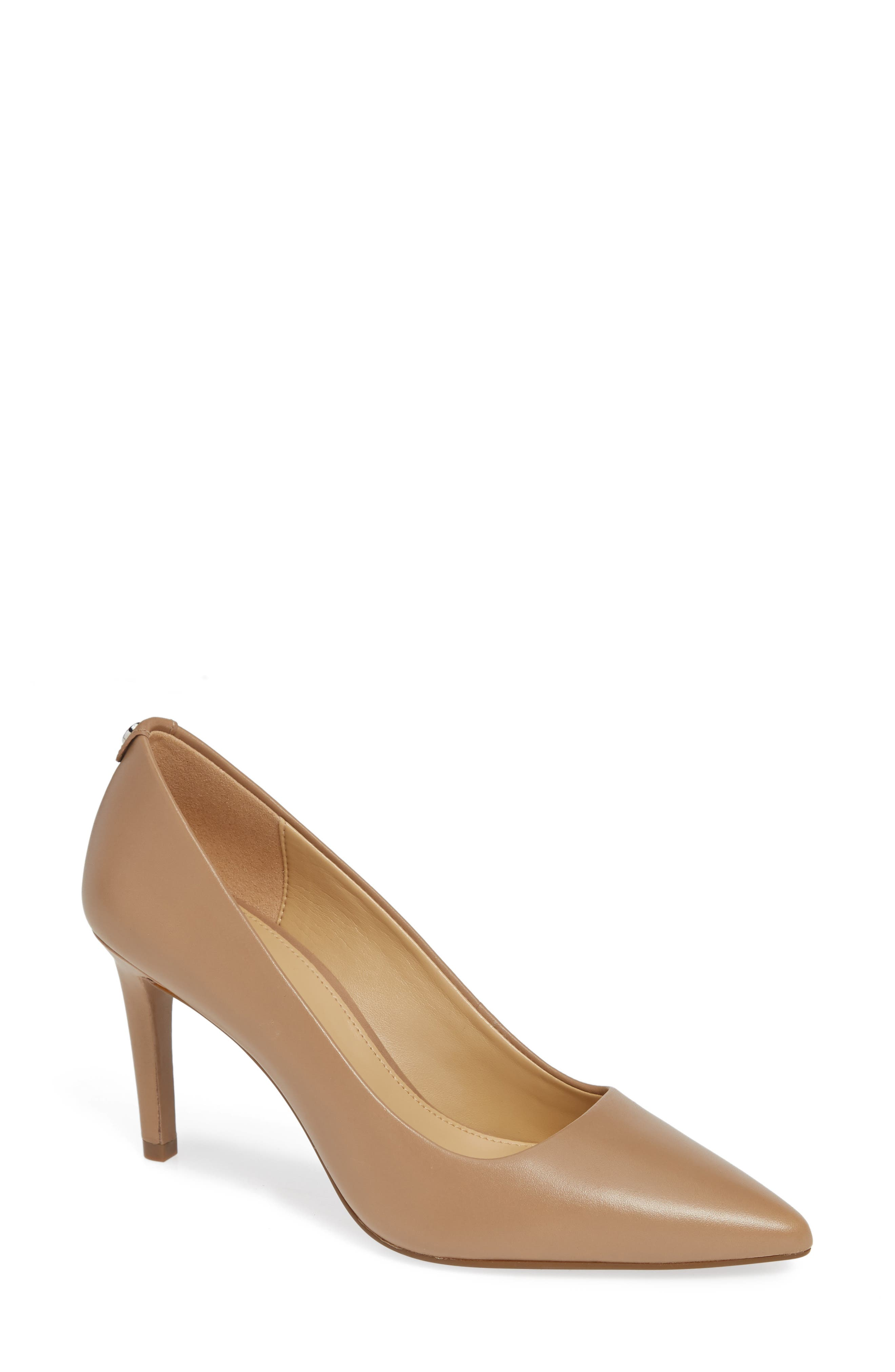 Dorothy Flex Leather Pointed Toe High-Heel Pumps in Khaki