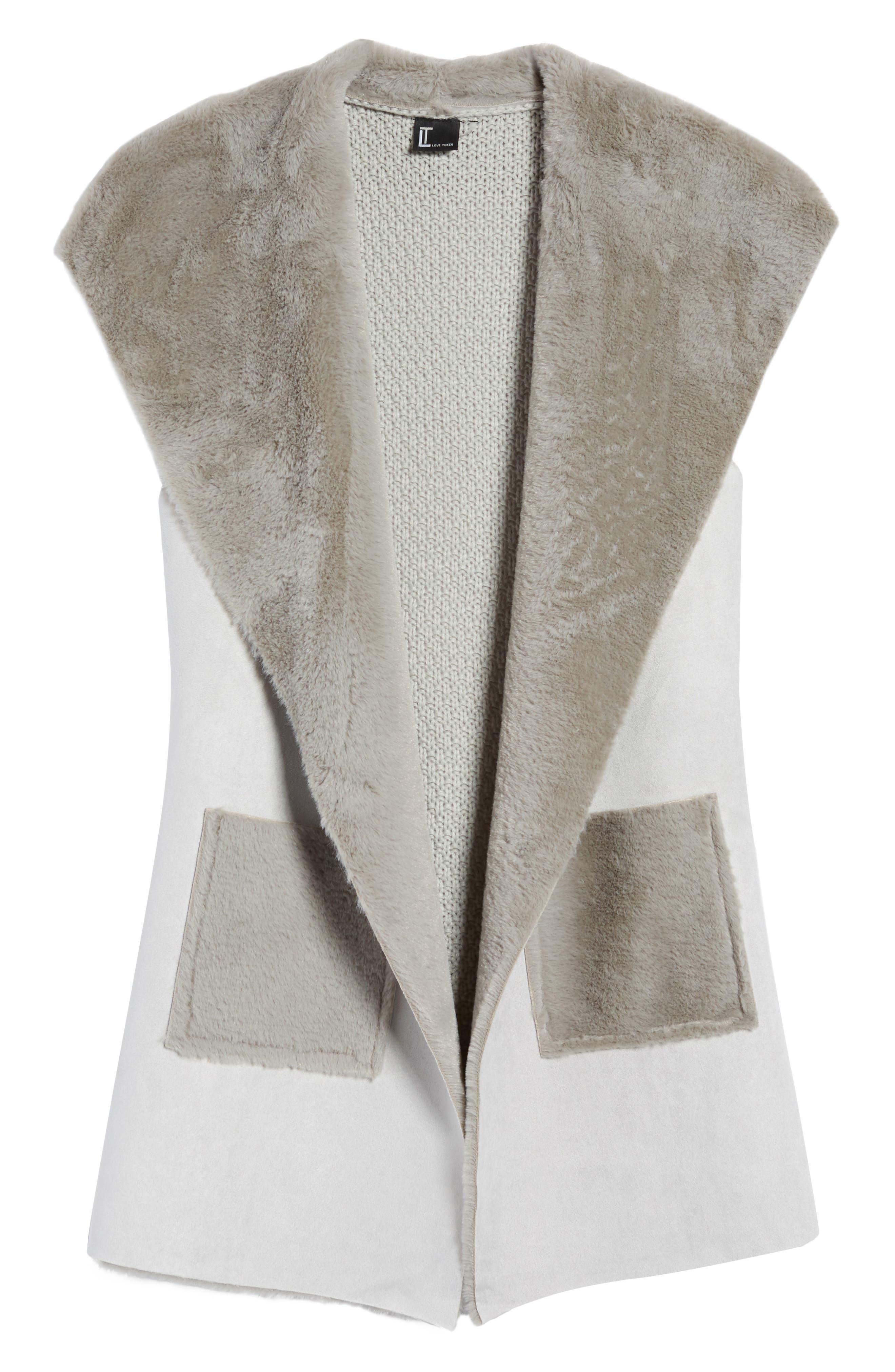 Faux Shearling Vest,                             Alternate thumbnail 14, color,