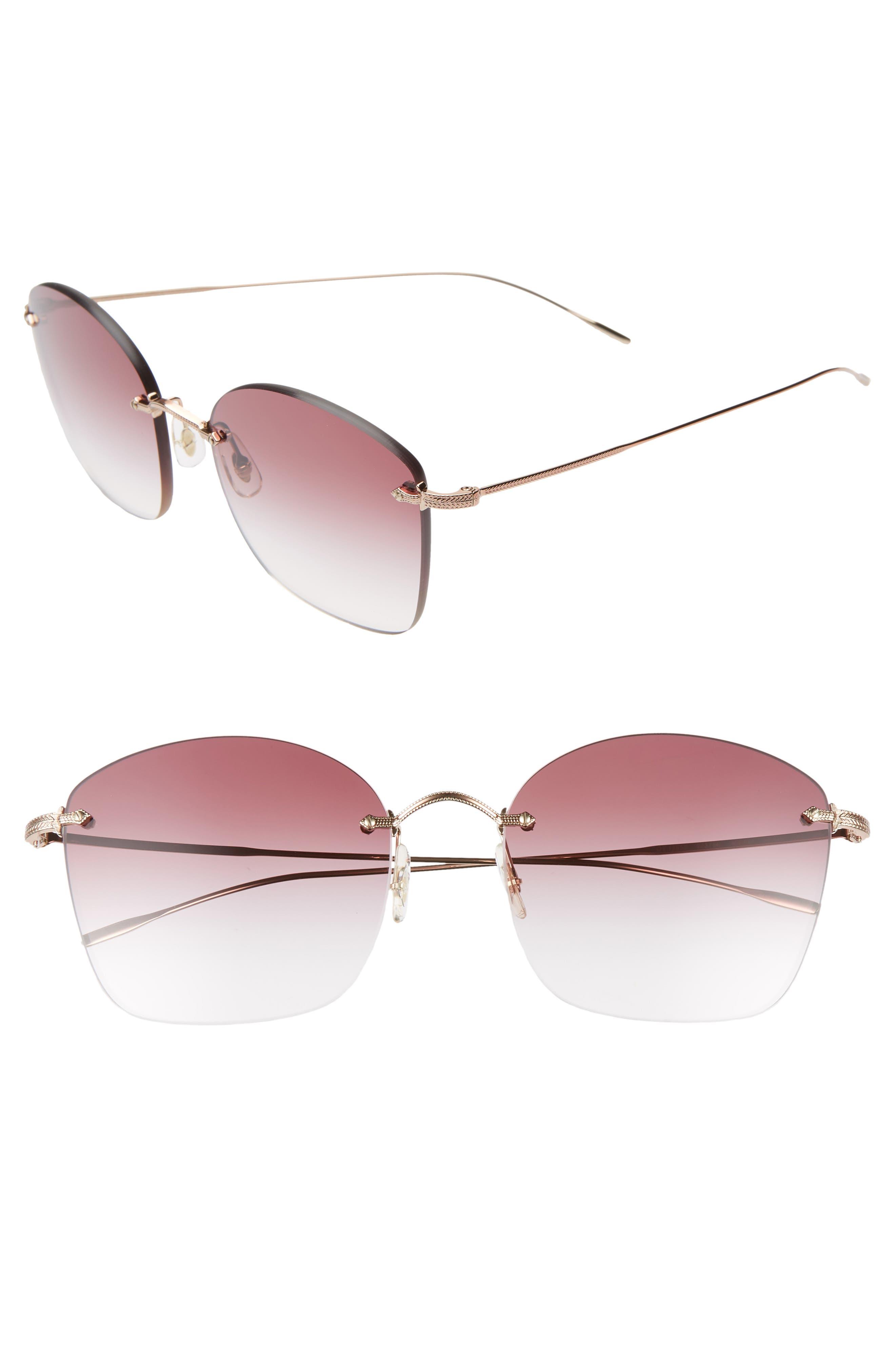 Oliver Peoples Sunglasses MARLIEN 58MM SUNGLASSES - ROSE GOLD/ CLEAR DARK VIOLET