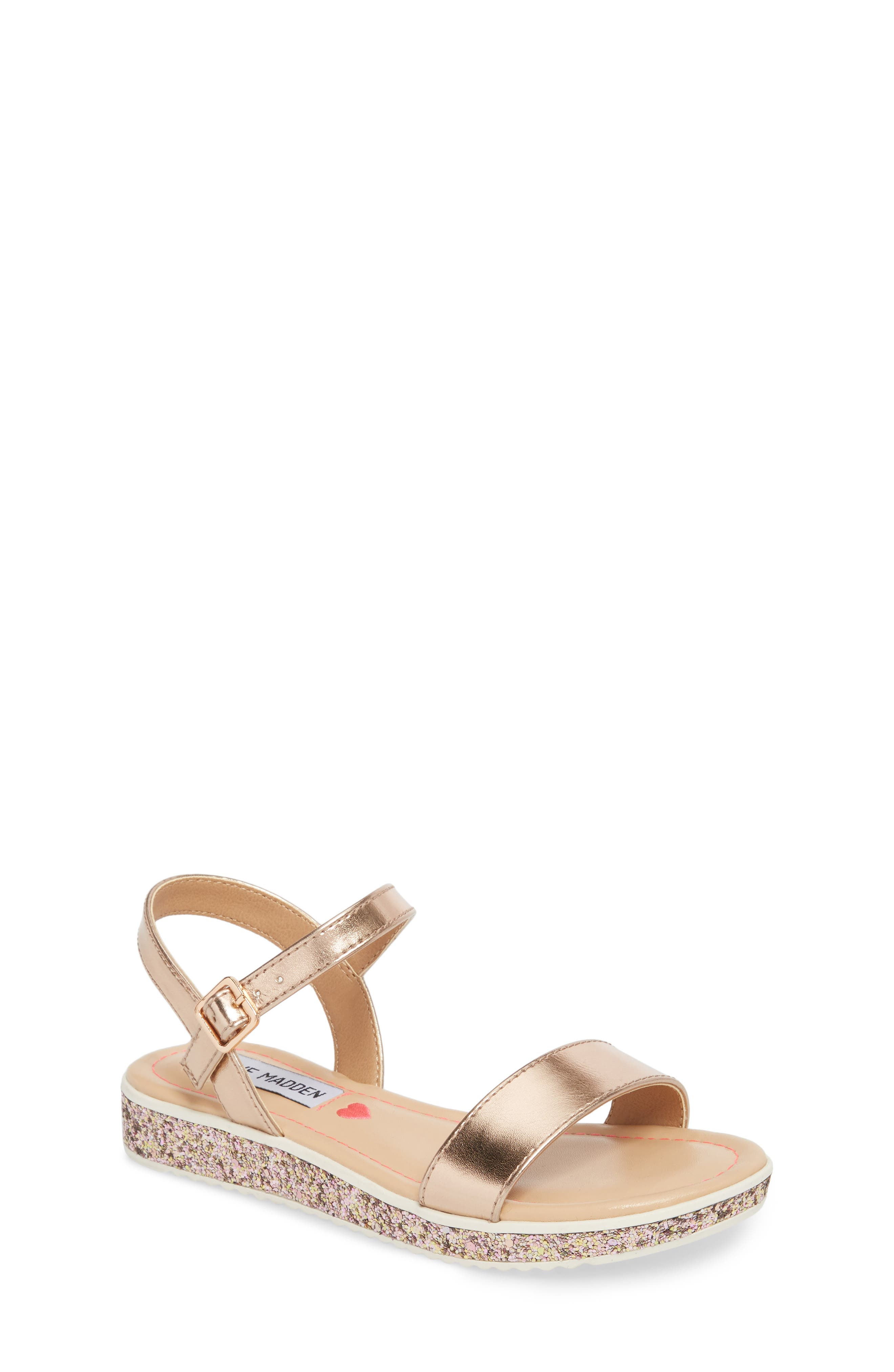 JGLITTER Sandal,                         Main,                         color, ROSE GOLD