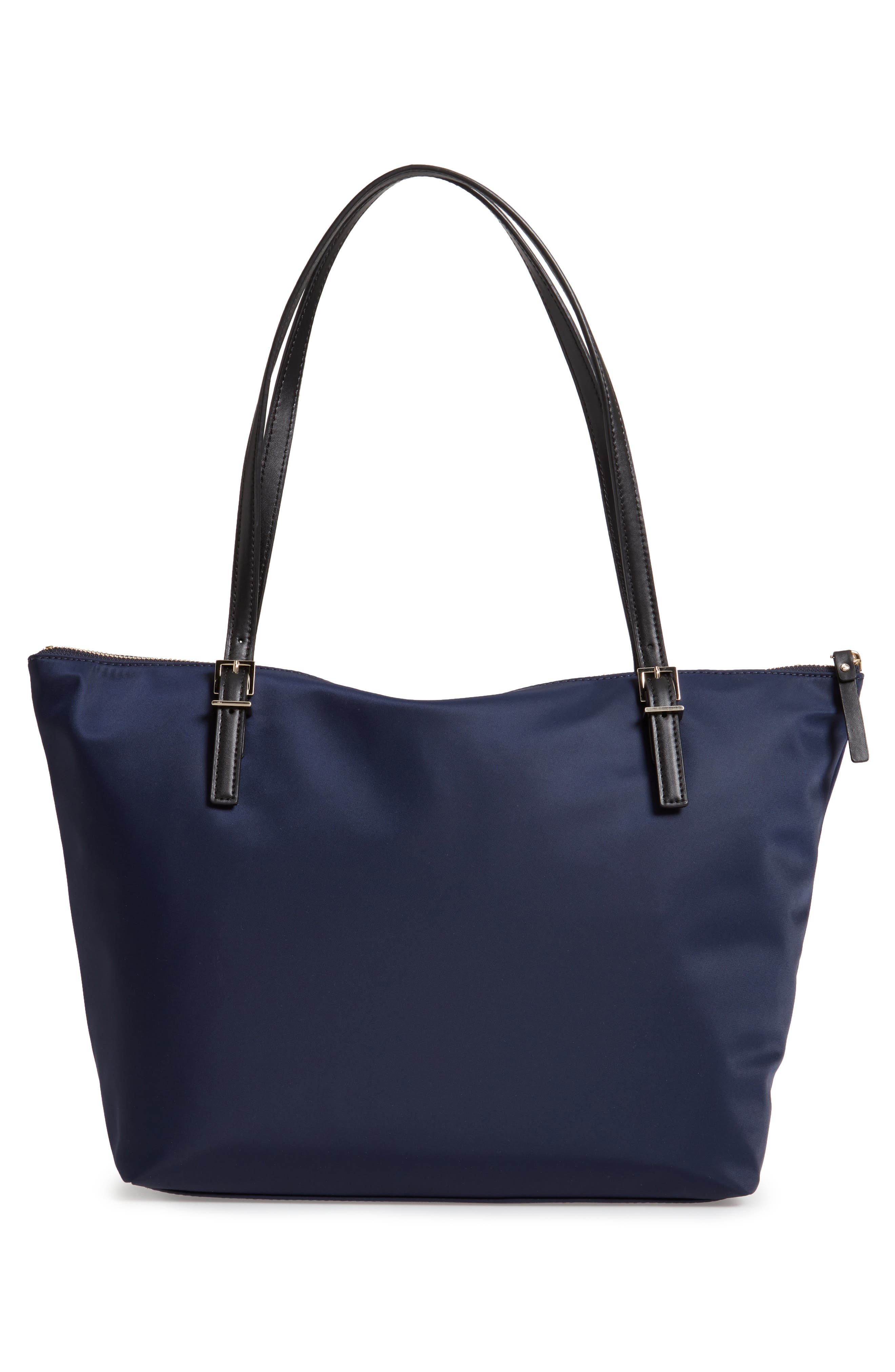 KATE SPADE NEW YORK,                             watson lane maya nylon tote,                             Alternate thumbnail 3, color,                             RICH NAVY
