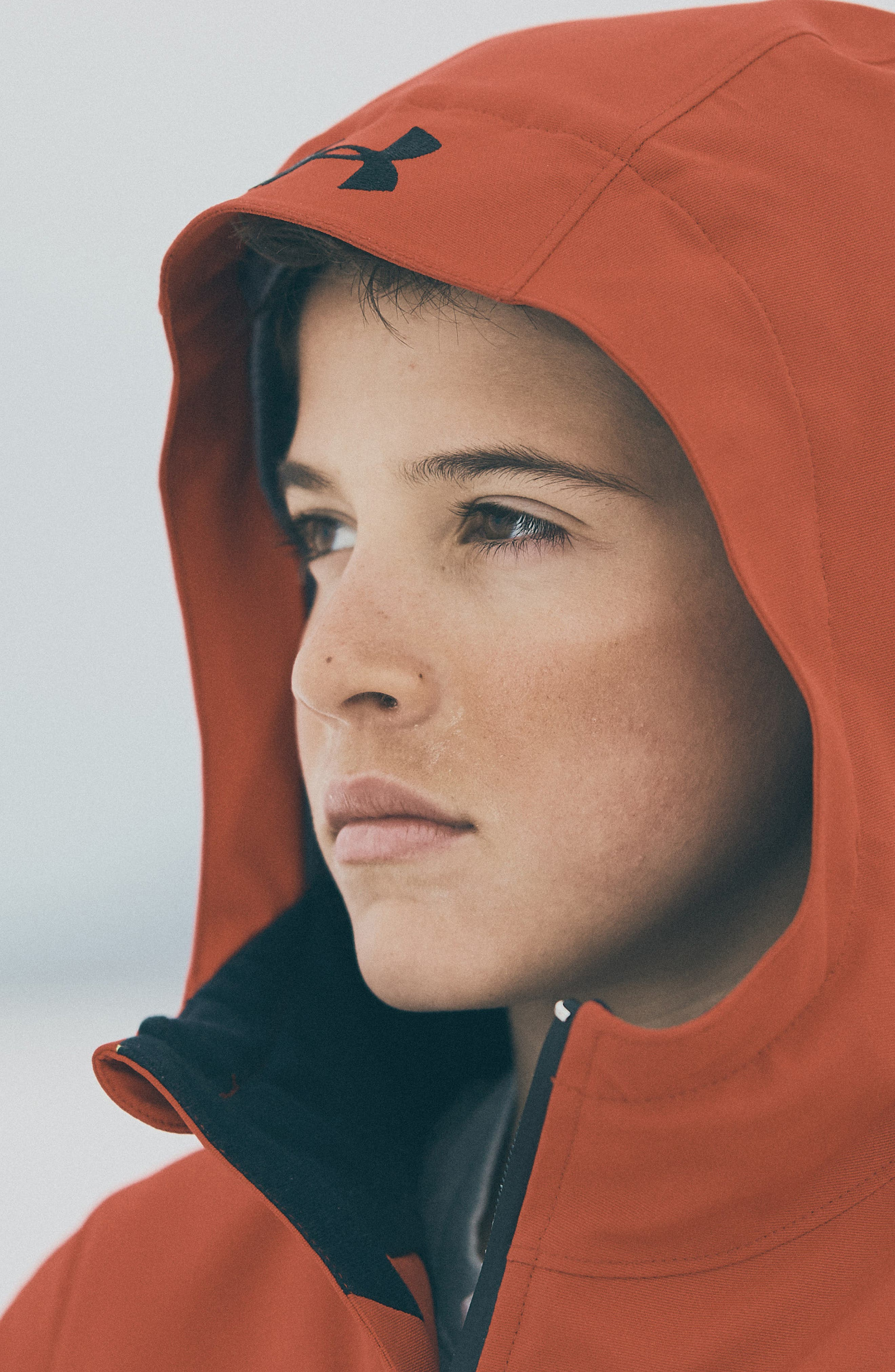 Zumatrek Water Repellent ColdGear<sup>®</sup> Hooded Jacket,                             Alternate thumbnail 4, color,                             RED