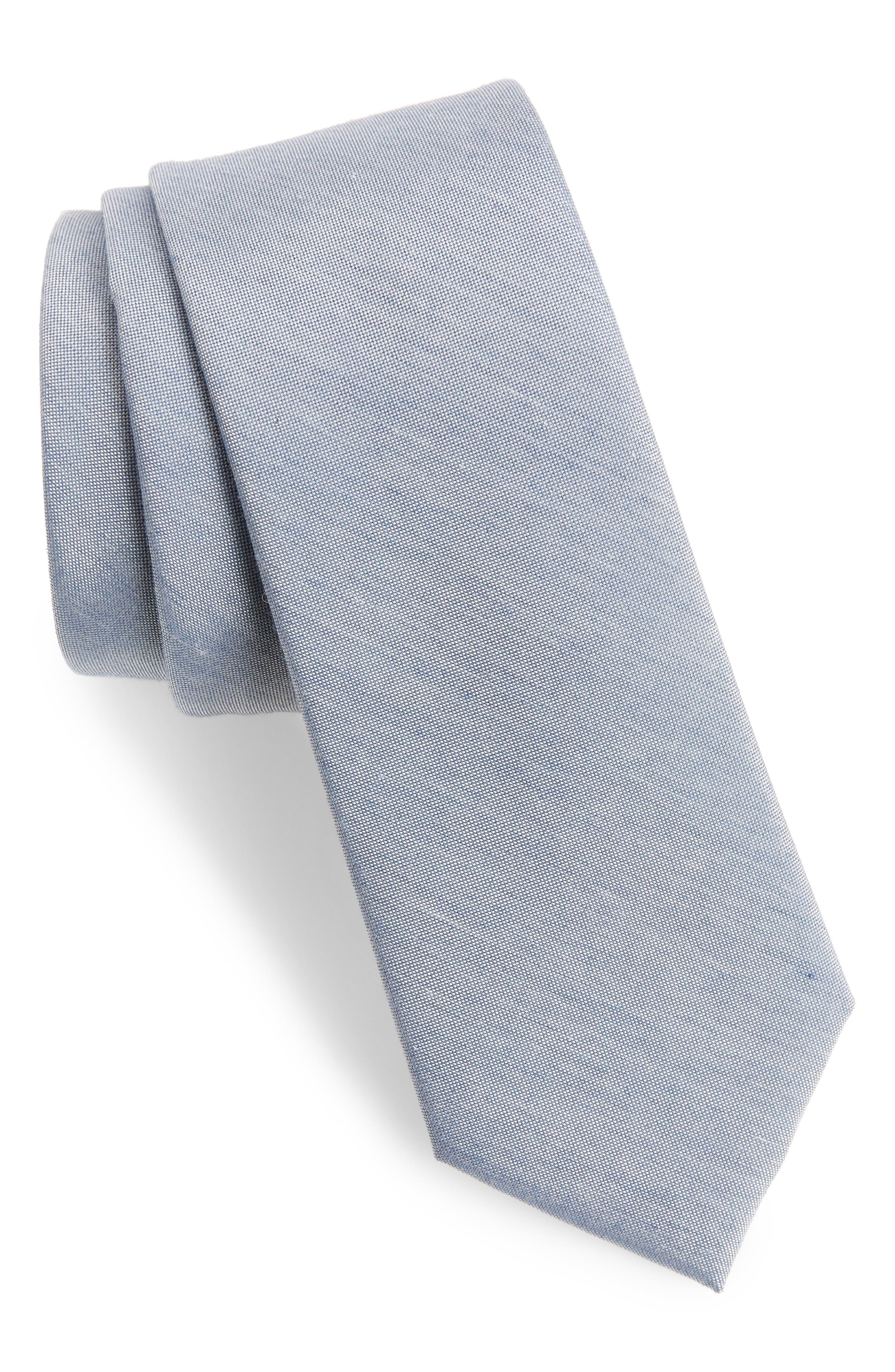 Marcus Solid Cotton Blend Tie,                             Main thumbnail 2, color,