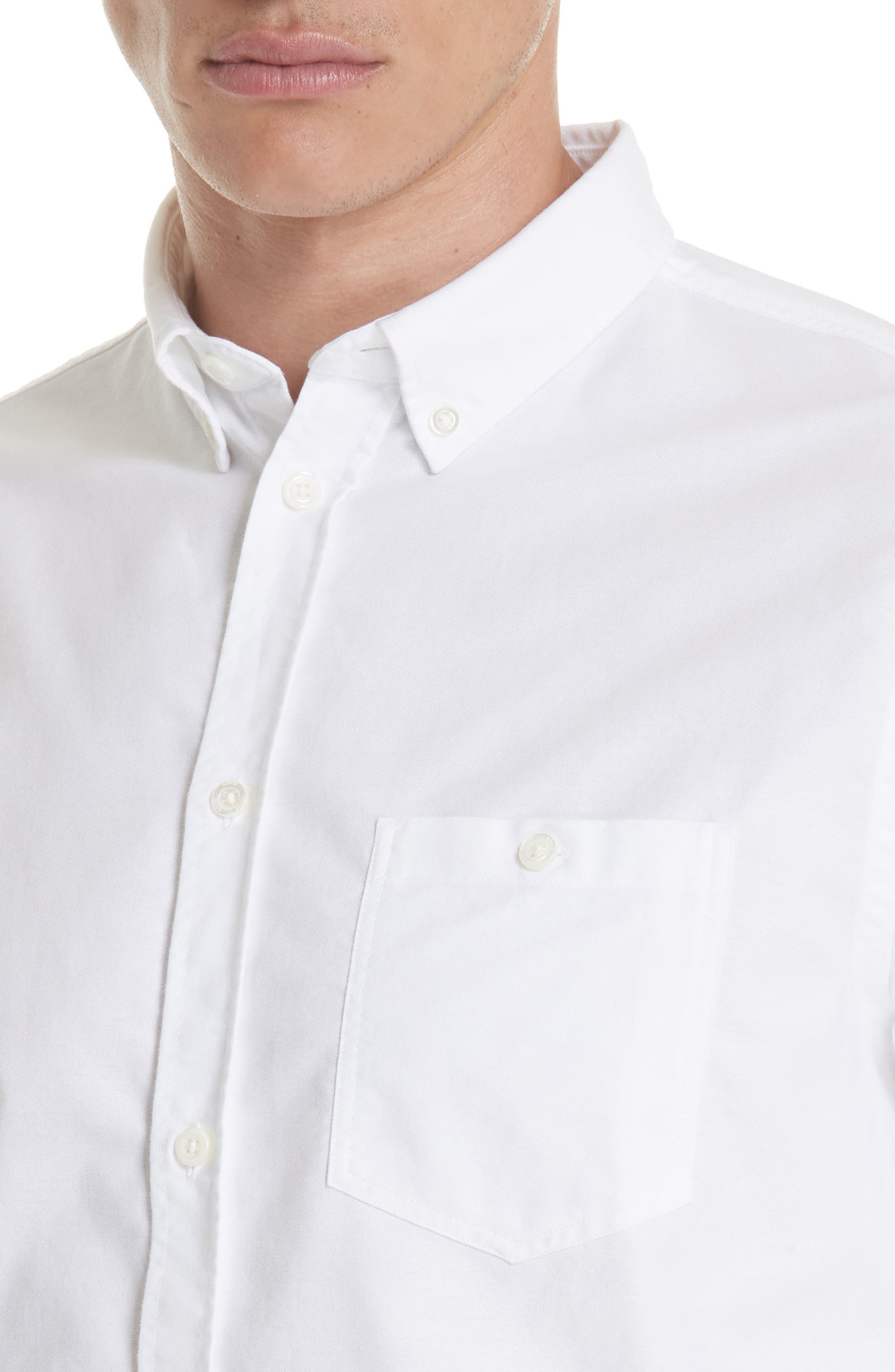 Anton Oxford Sport Shirt,                             Alternate thumbnail 4, color,                             100