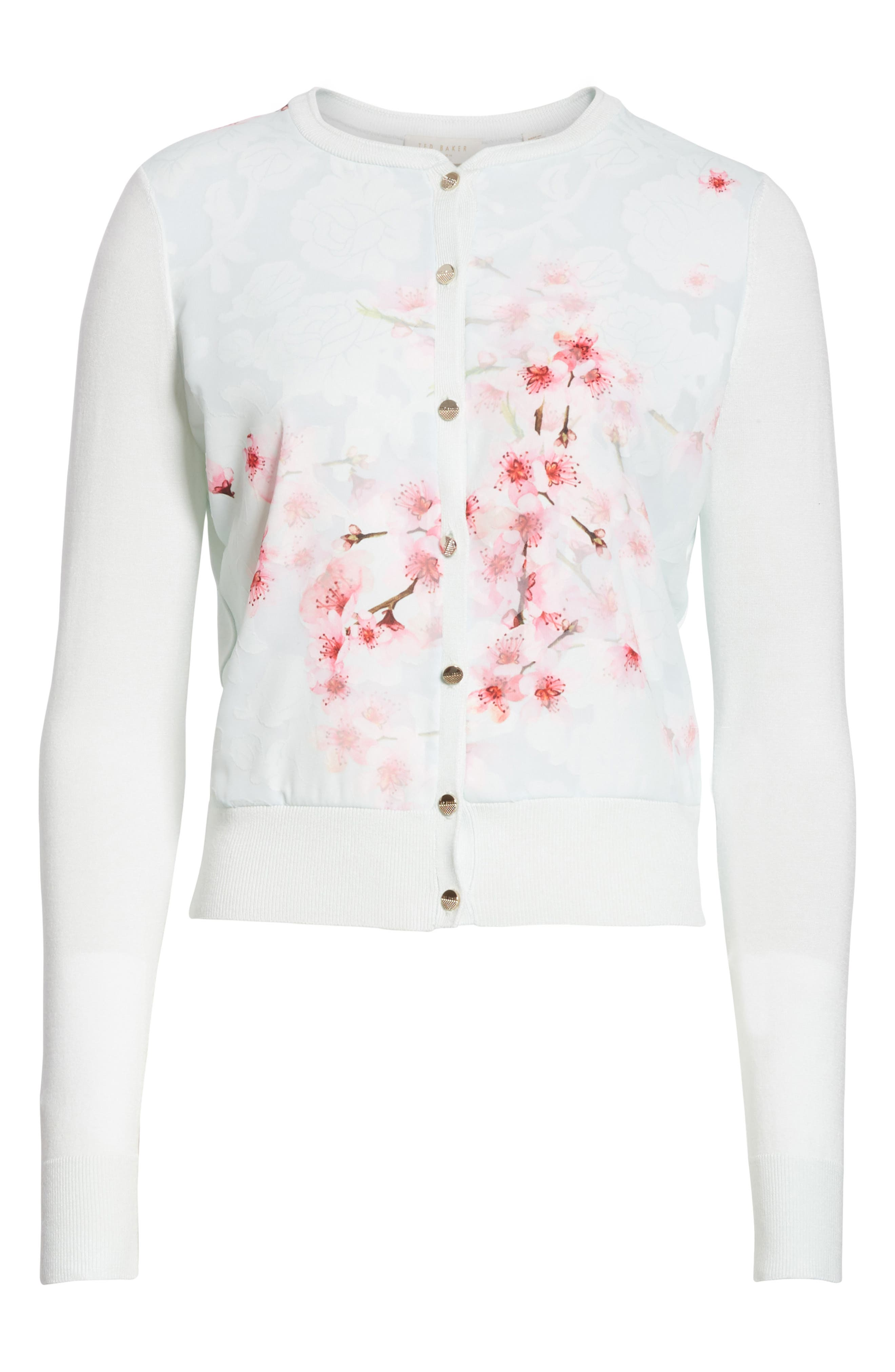 Blossom Woven Front Cardigan,                             Alternate thumbnail 6, color,                             331