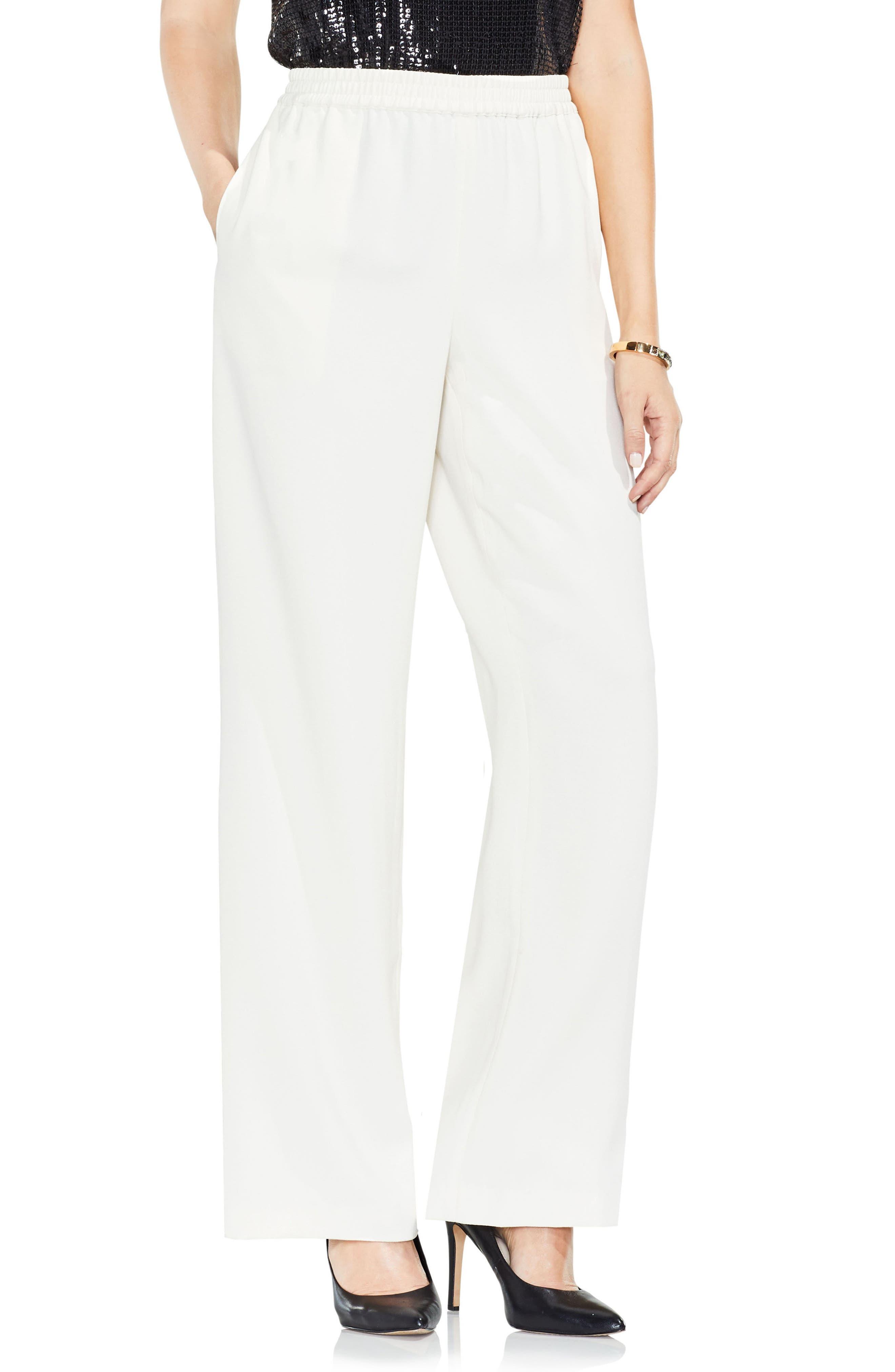Wide Leg Crepe Pants,                         Main,                         color, 144